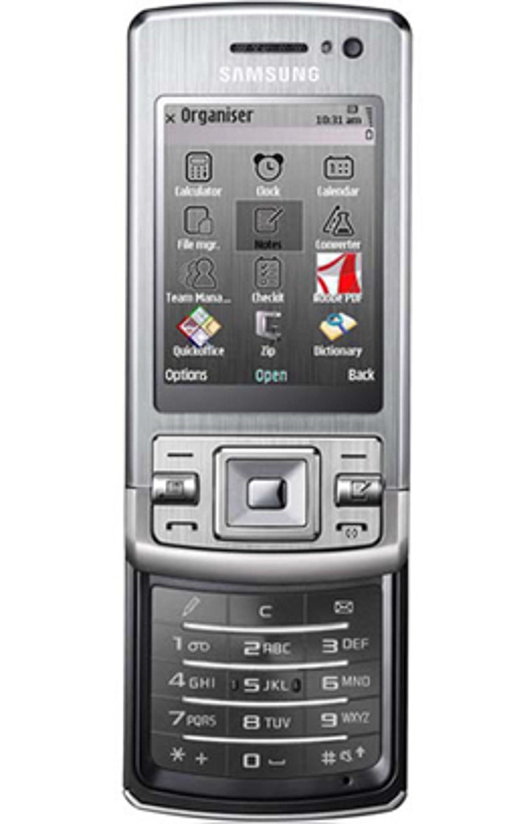 Samsung L870 er en smarttelefon med Symbian.