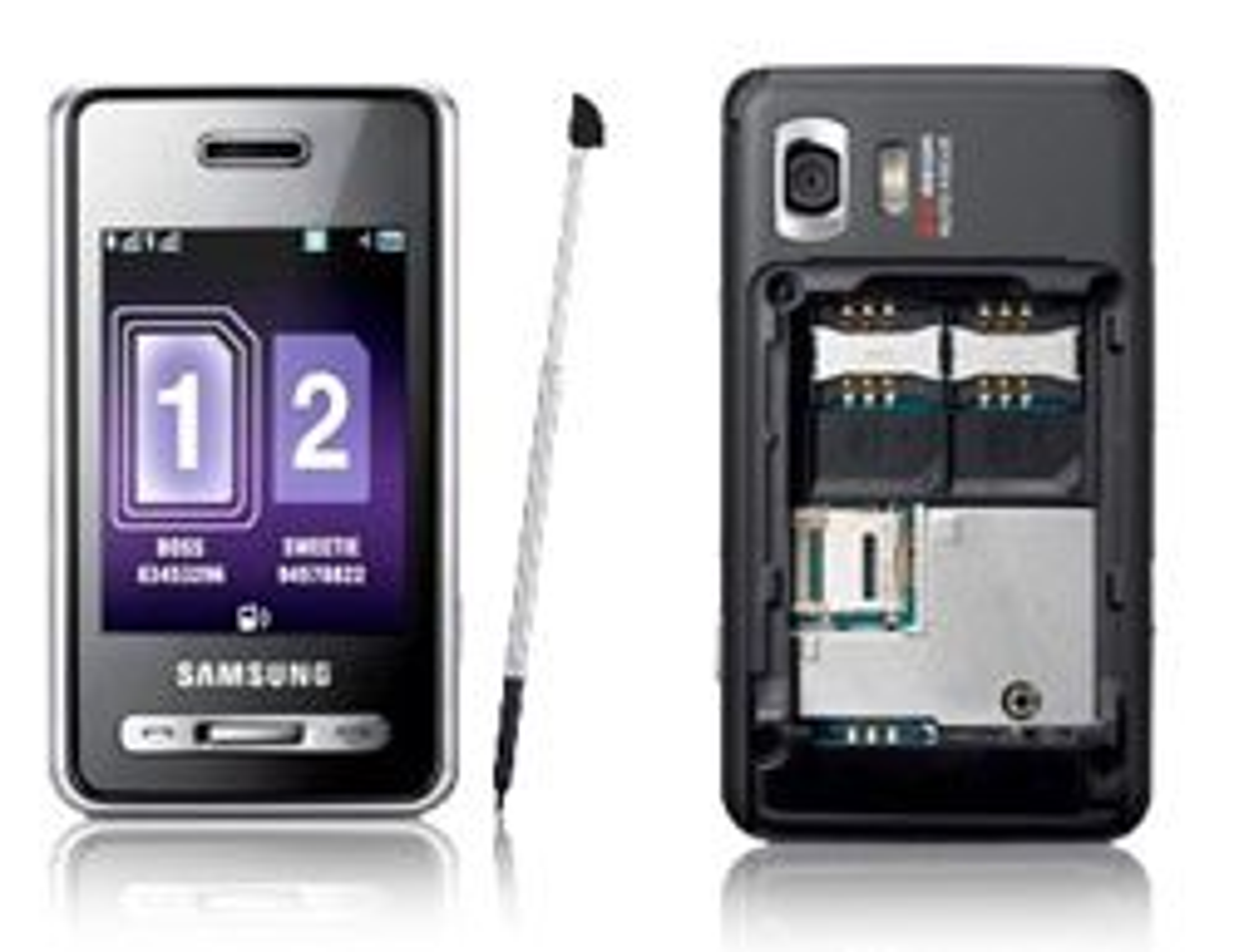 D980 har plass til to SIM-kort.