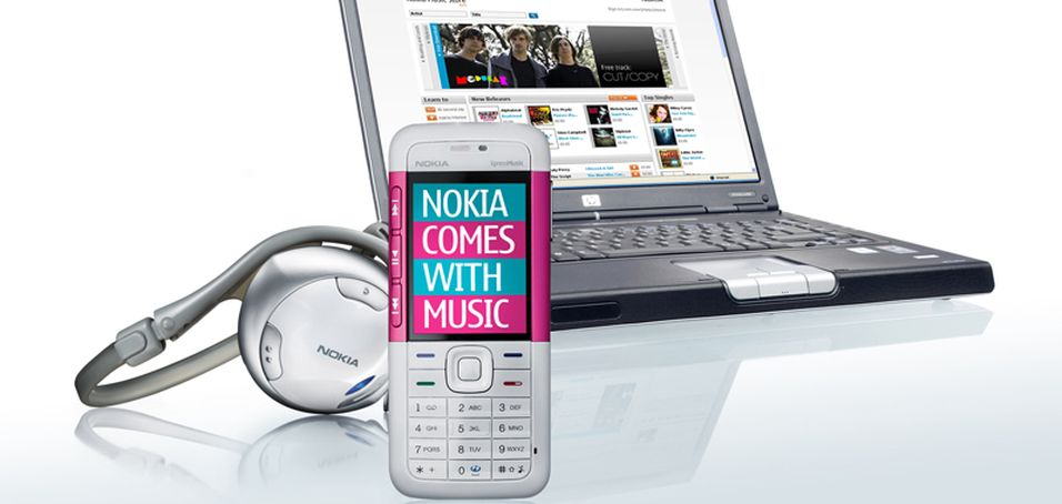 Nokia 5310 i egne Comes With Music-farger.