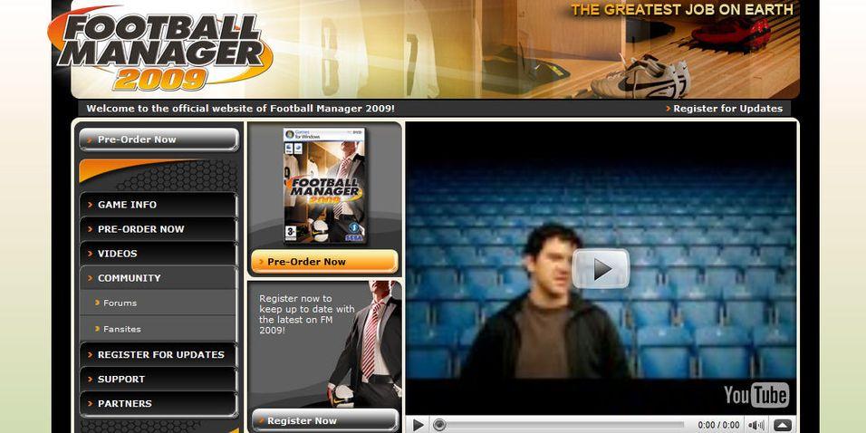 Endelig er Football Manager 2009 offentliggjort. Nettstedet er oppe og pågangen er selvsagt enorm.