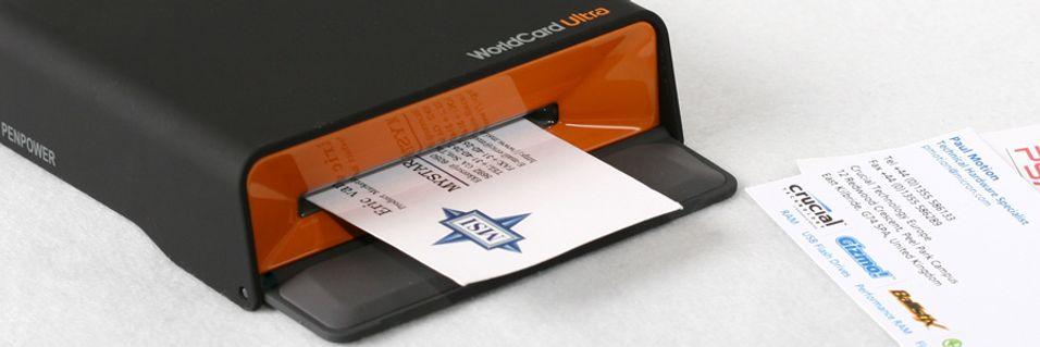 TEST: Penpower Worldcard Ultra visittkortskanner