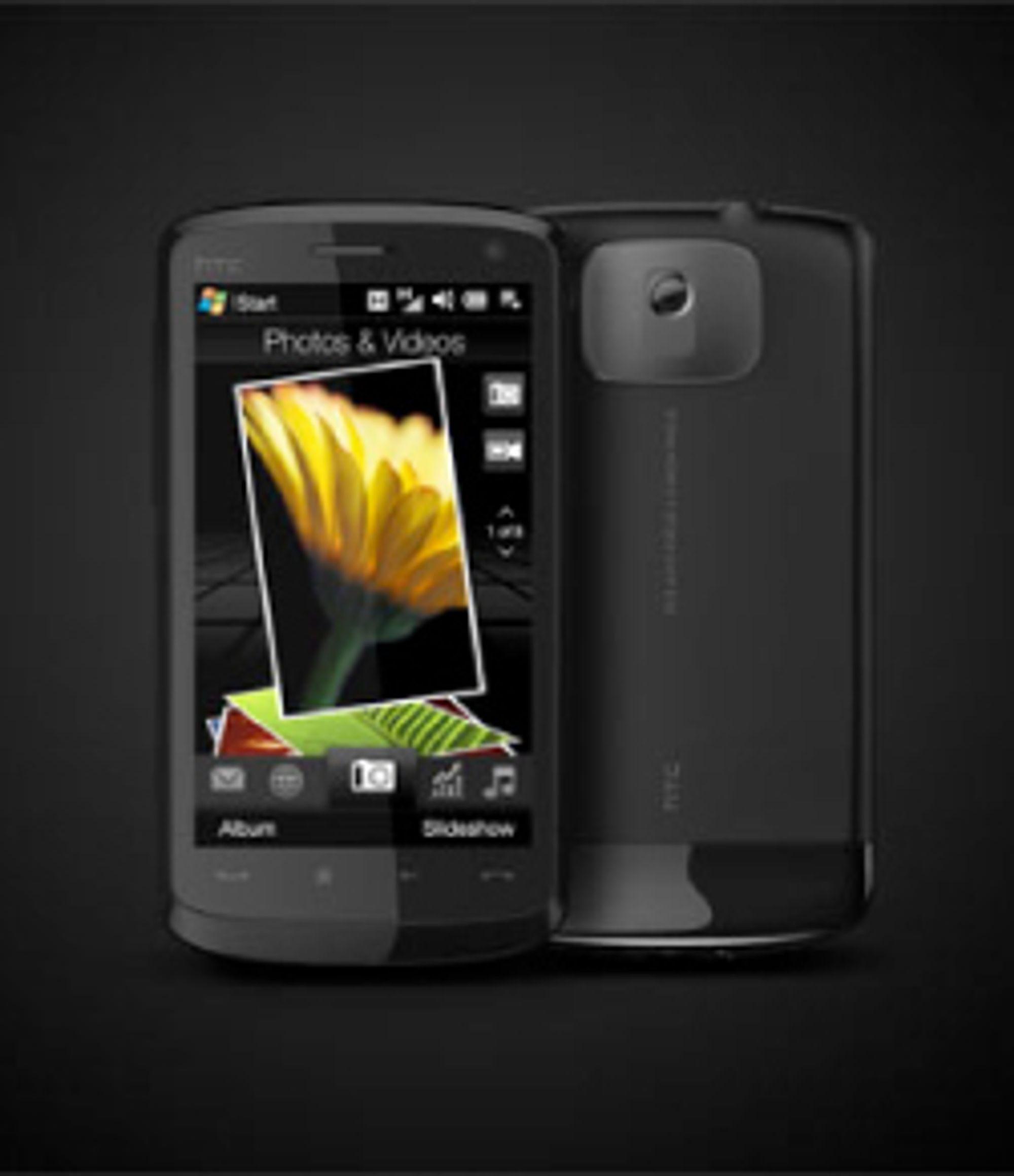 Touch HD har bredskjerm.