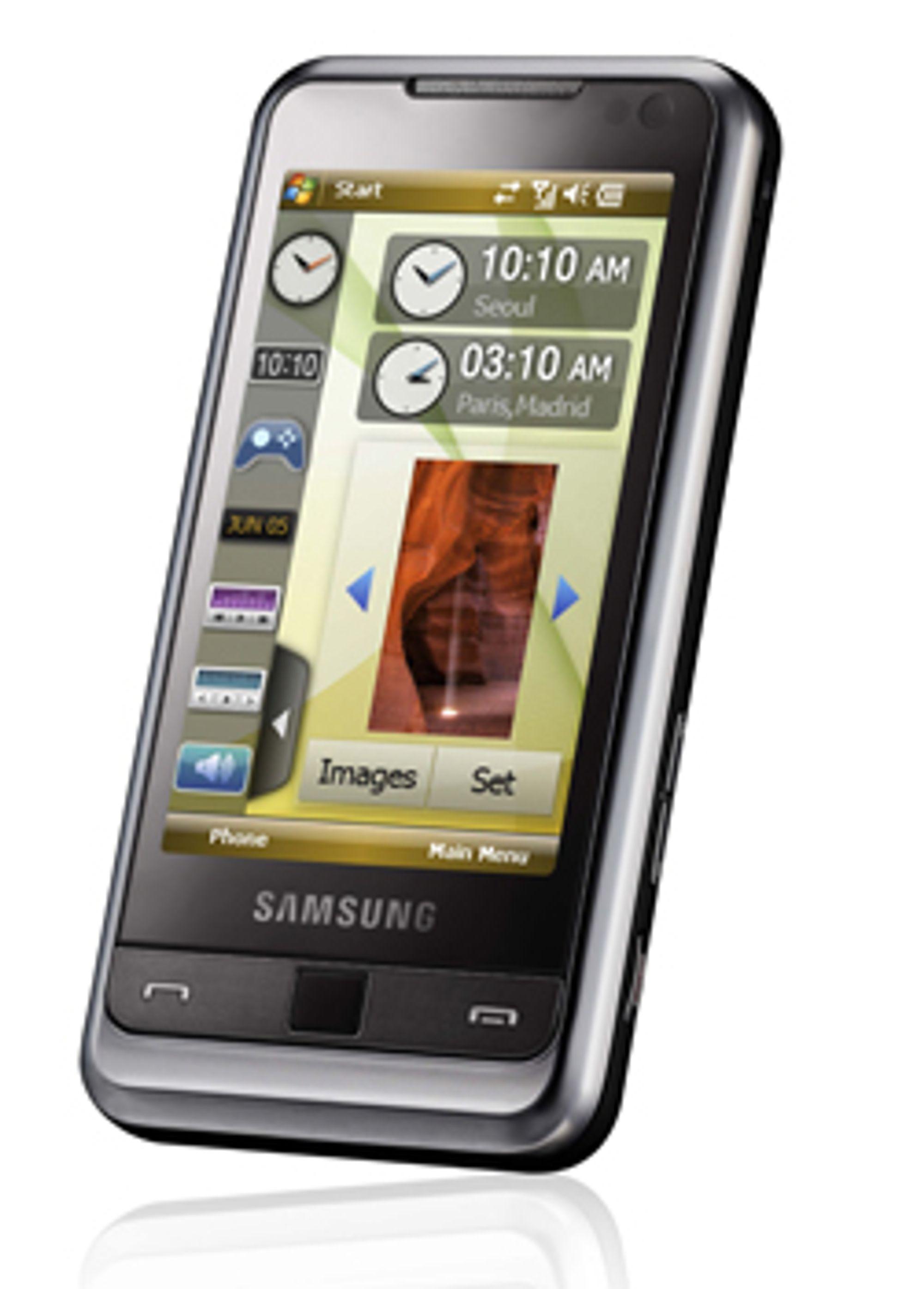 Samsung I900 har det meste du trenger, men ikke tastatur.