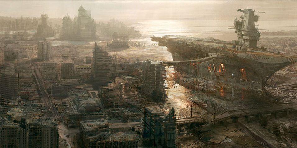 Konsepttegning fra Bethesdas Fallout 3.