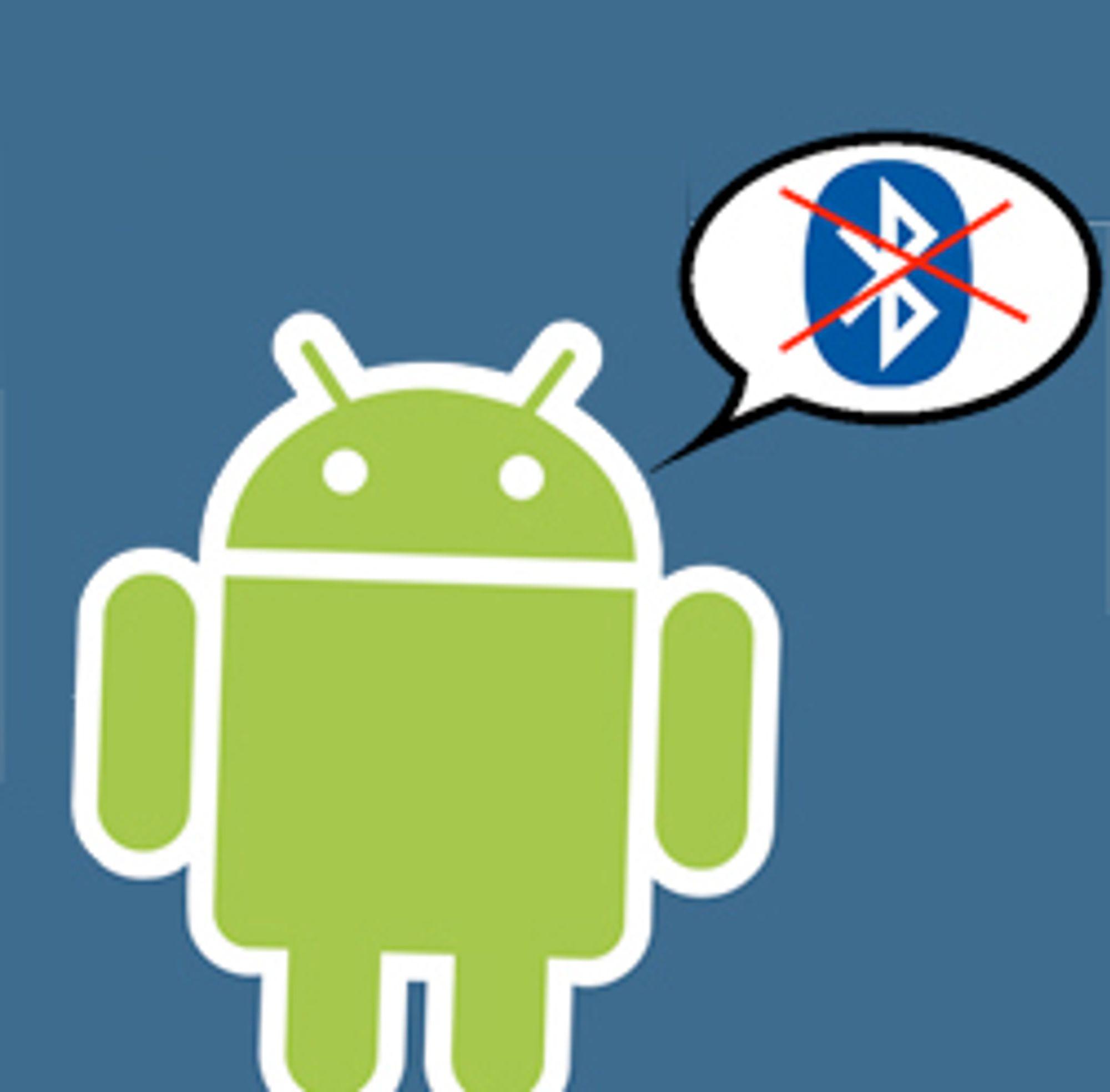 Bluetooth-støtten i Android er forkrøplet.