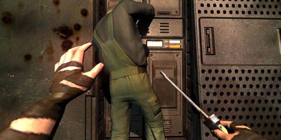 Skjermbilde fra Escape from Butcher Bay på PC.