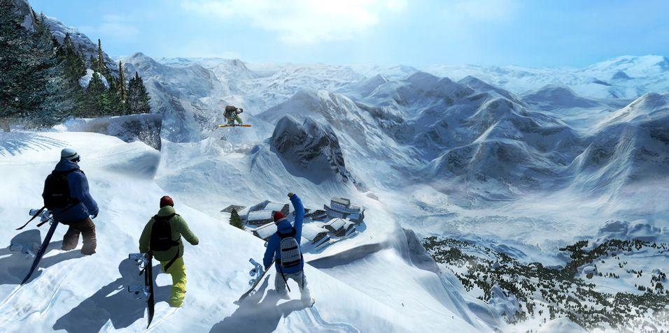 Skjermbilde fra Shaun White Snowboarding på PS3.