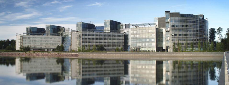 Det er nok ikke like lystig i Nokias hovedkvarter i Espoo om dagen.