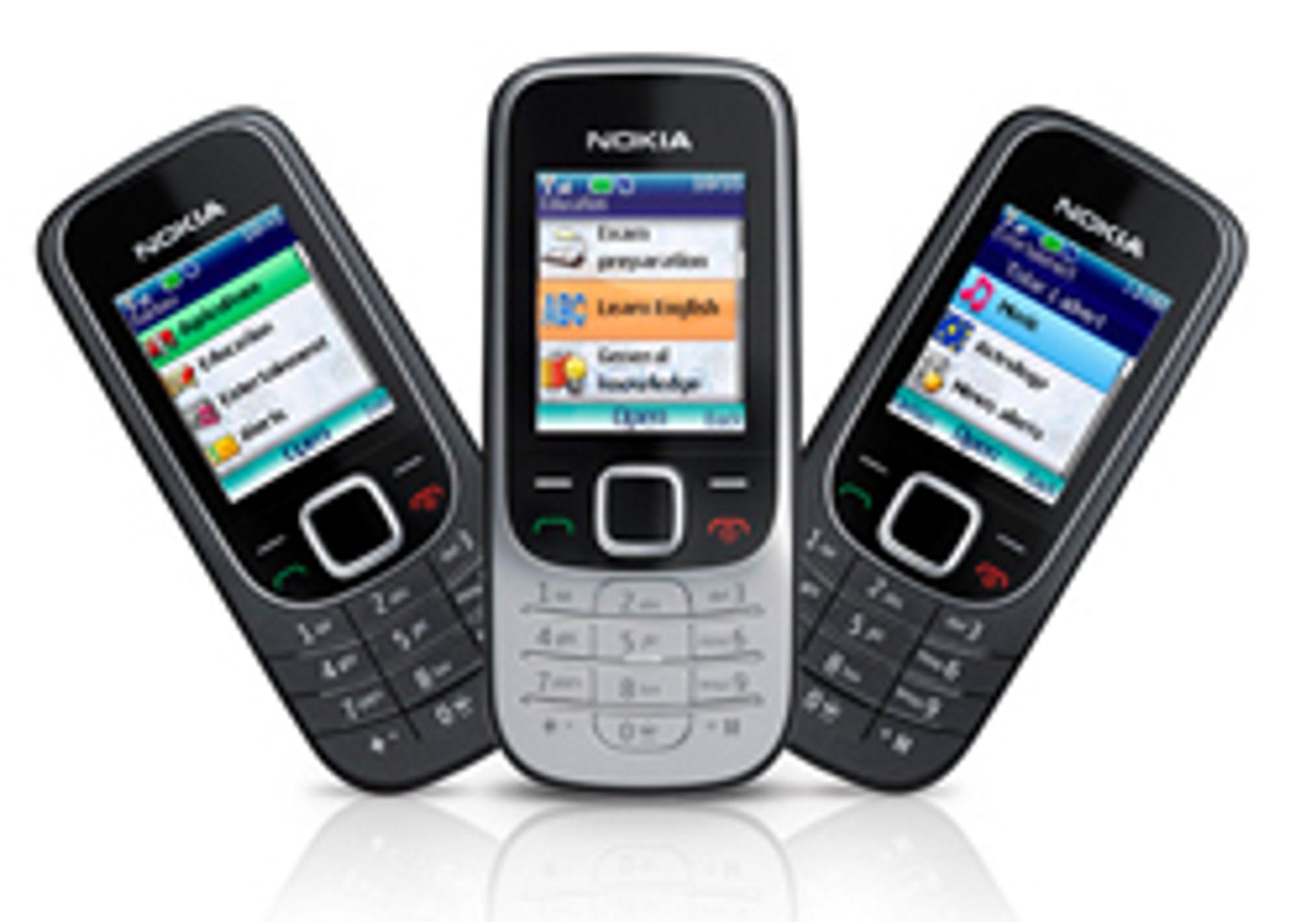 2330 og 2323 er billige telefoner med fargeskjerm og internettilgang.
