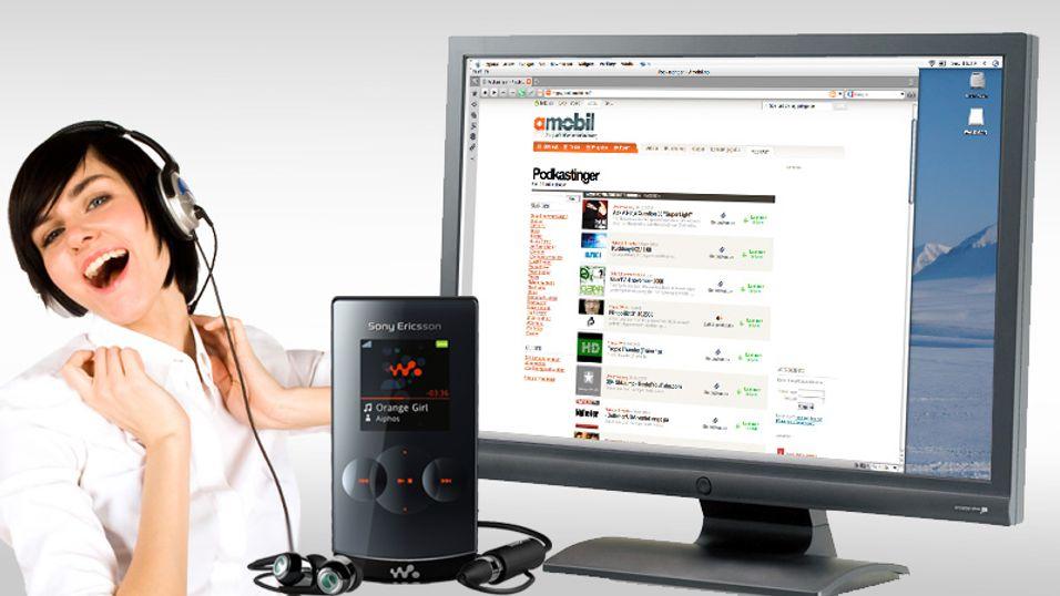 Nå kan du laste ned podkaster på Amobil.