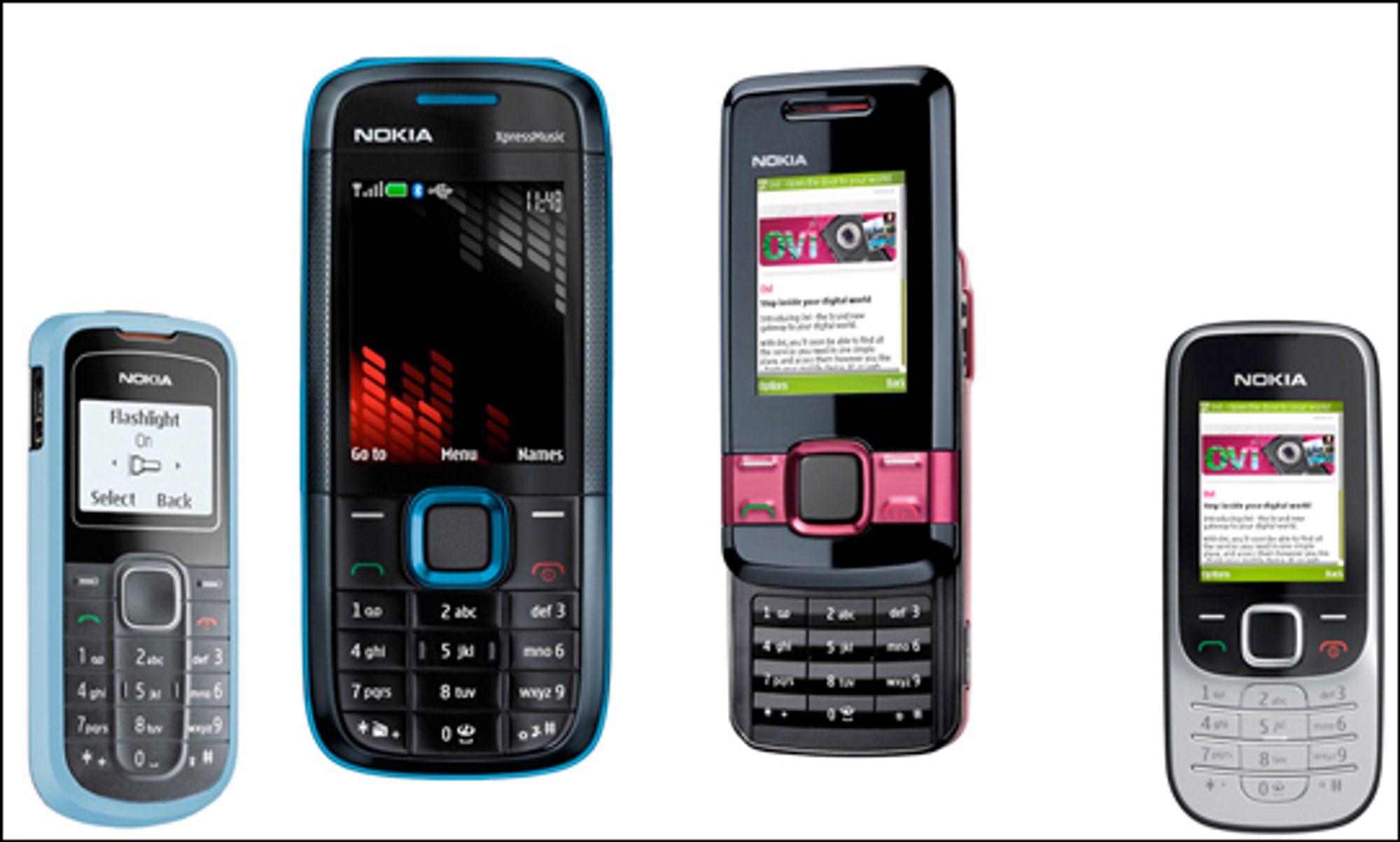 Nokia lanserte et lass med billigtelefoner denne uken. (Foto: Nokia)