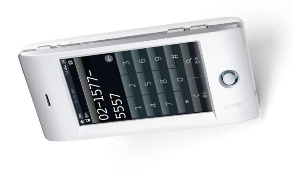Slik ser Iriver-telefonen ut.
