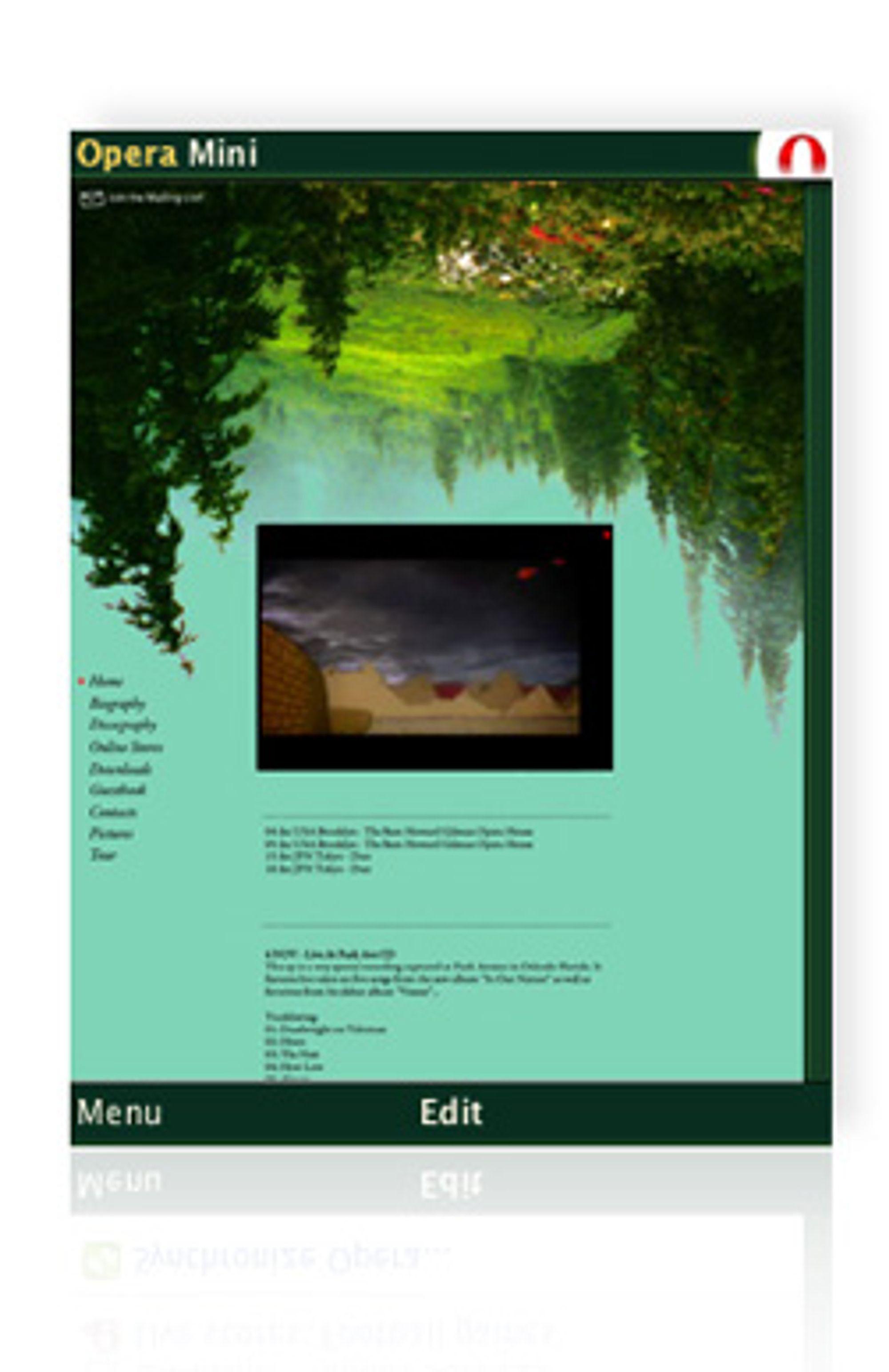 Grønn er en av de nye fargene i Opera Mini 4.2. (Foto: Opera)