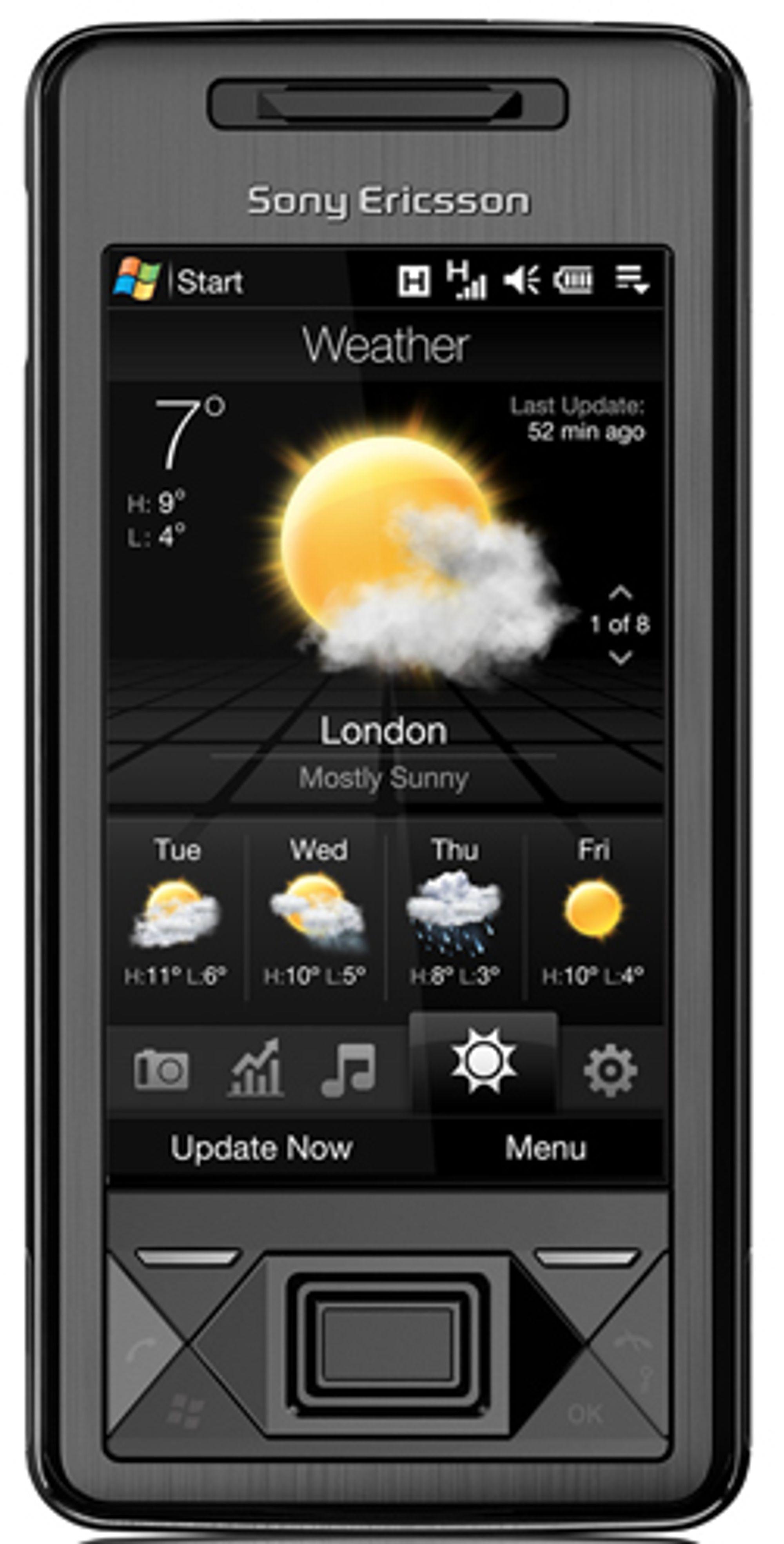 Xperia X1 kan nå få Touch Flo 3D-meny.