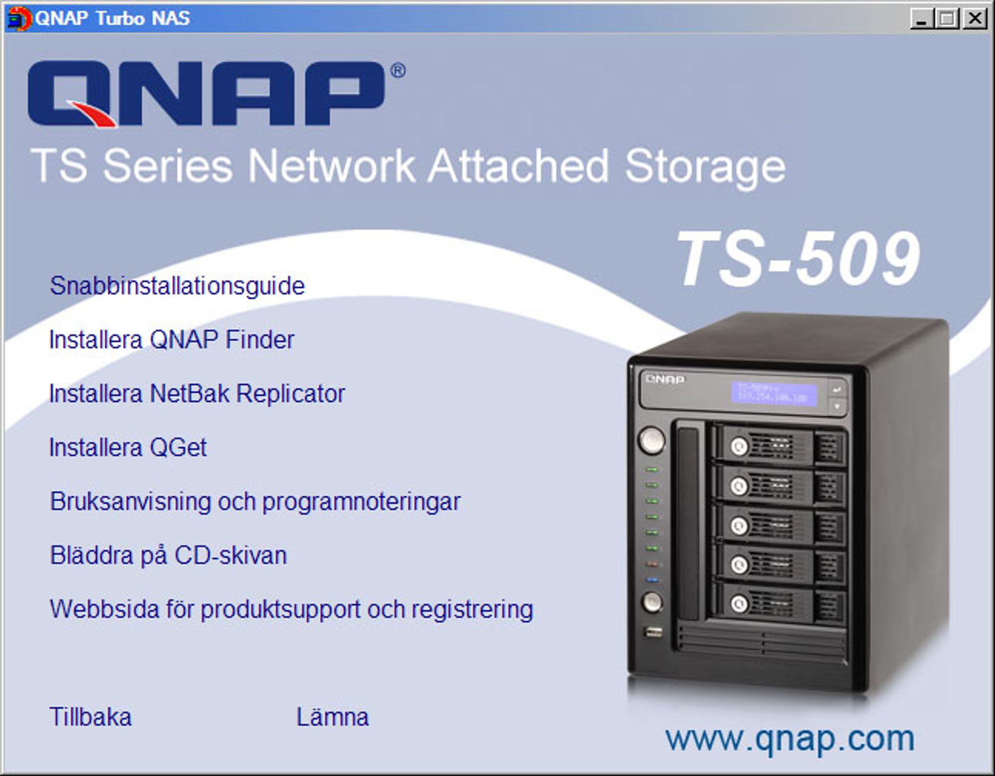 TEST: NAS for de kravstore - Qnap TS-509 Pro - spesifikasjon