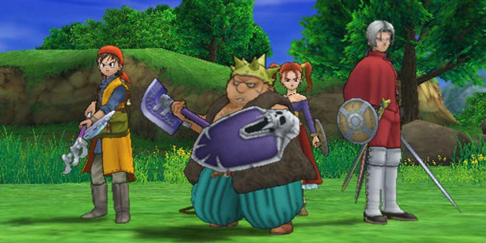 Skjermbilde fra Dragon Quest: The Journey of the Cursed King til PS2.