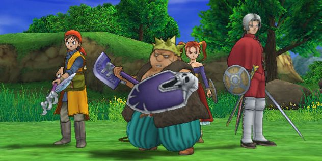 Skjermbilde fra Dragon Quest: The Journey of the Cursed King til PS2.