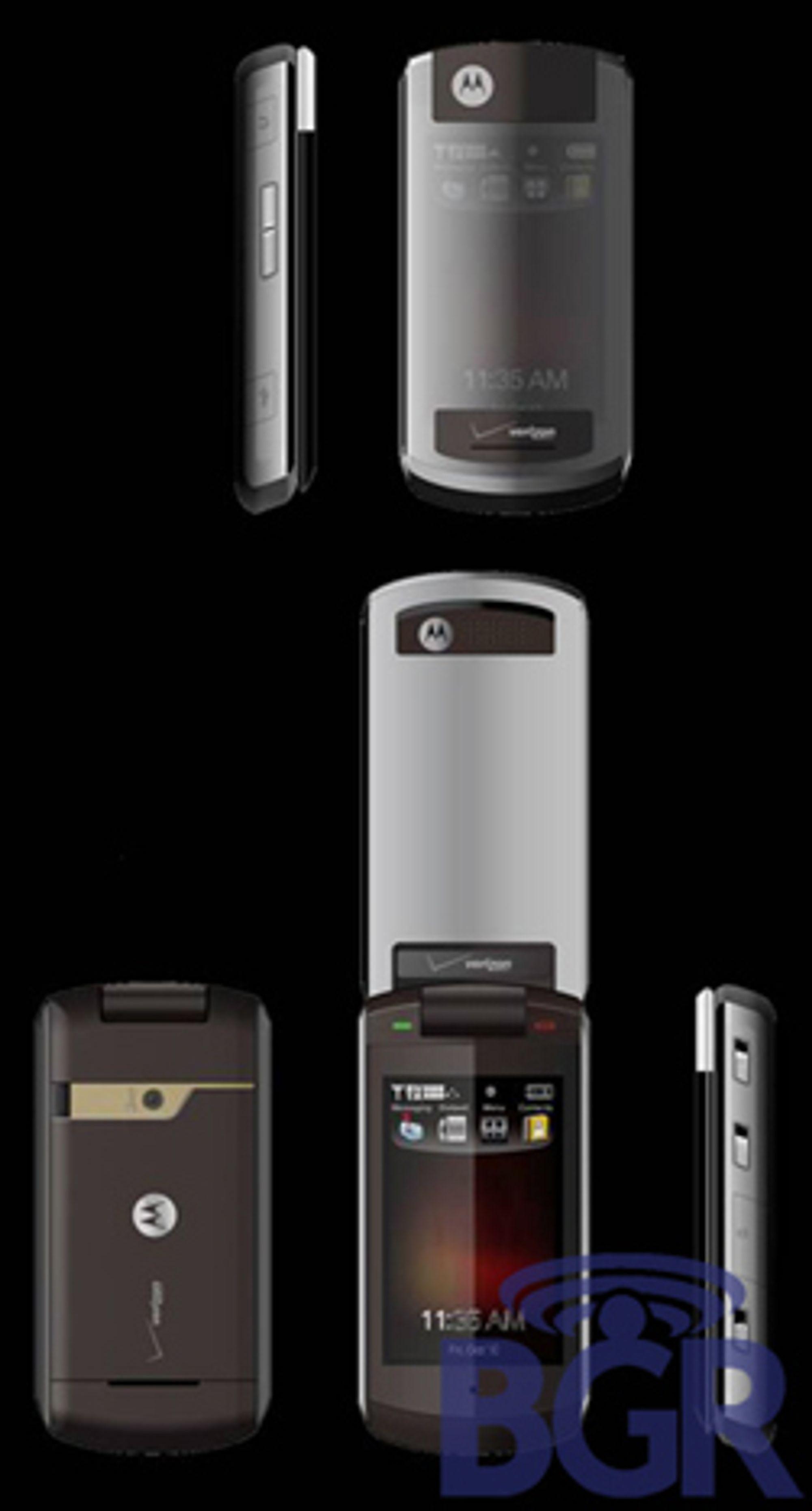 Motorola Inferno har et gjennomsiktig lokk.