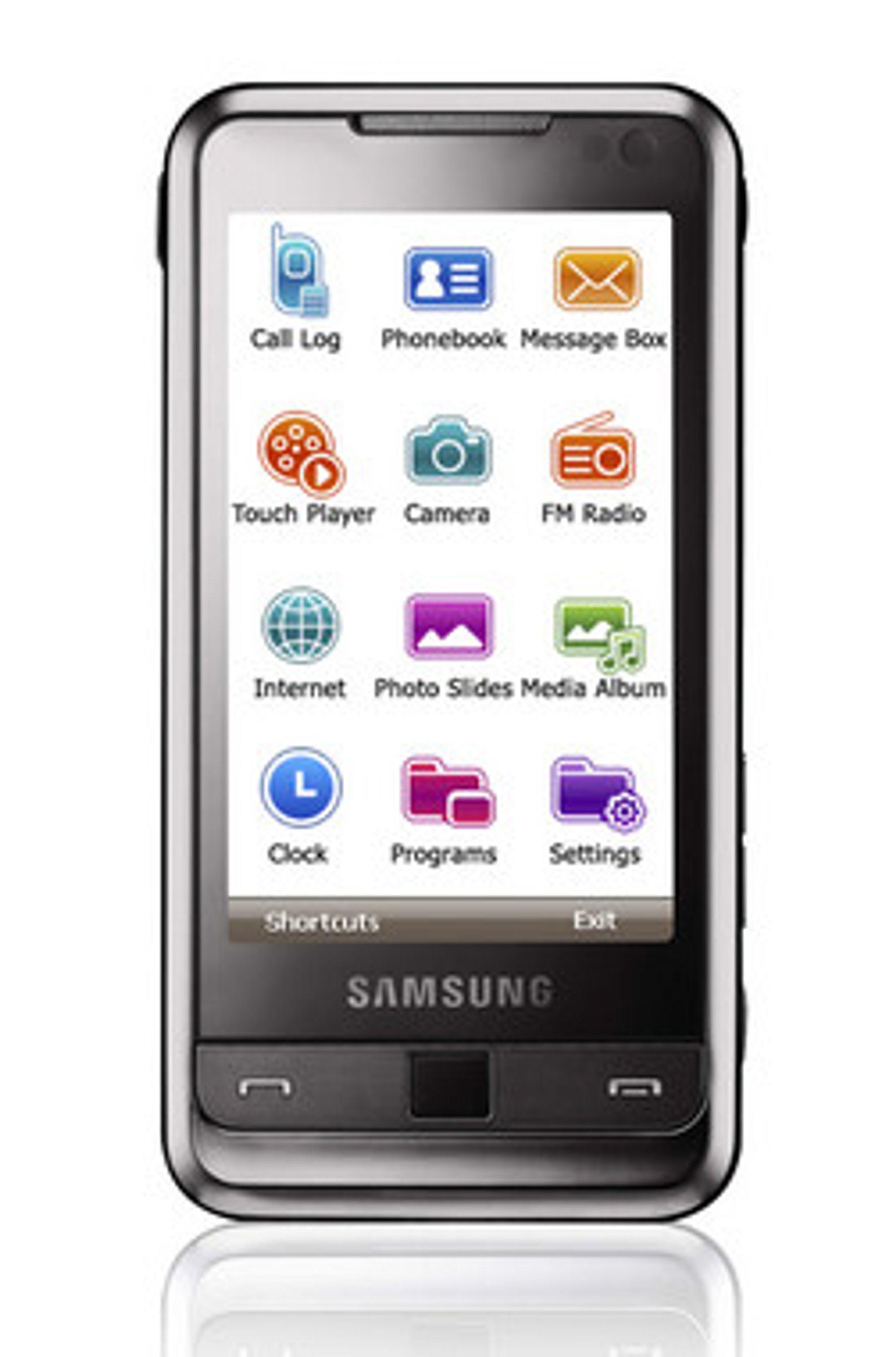 Samsung lanserte Omnia bare timer før Apple lanserte Iphone 3G.