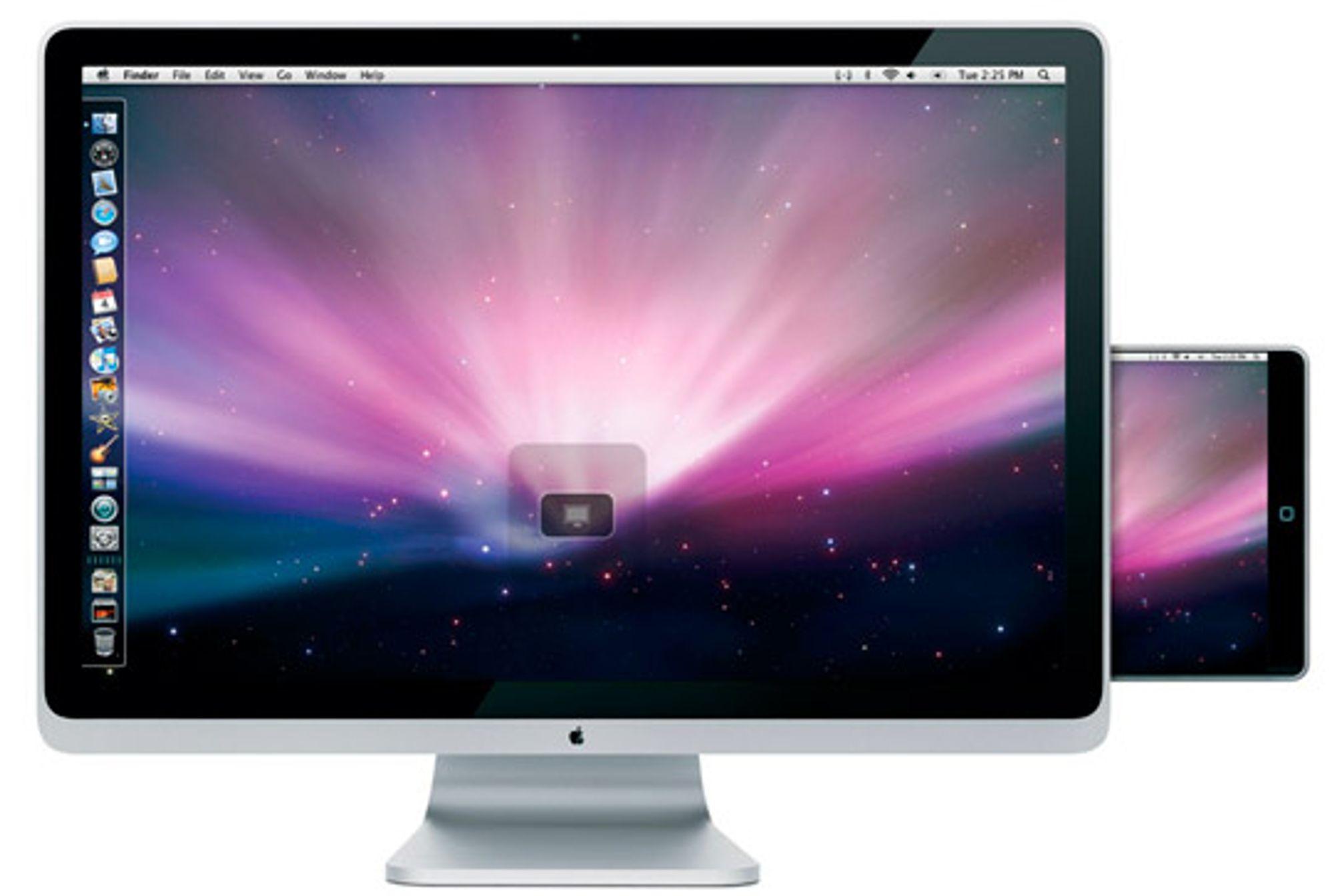 En egen skjerm med docking-mulighet for Macbook Touch.