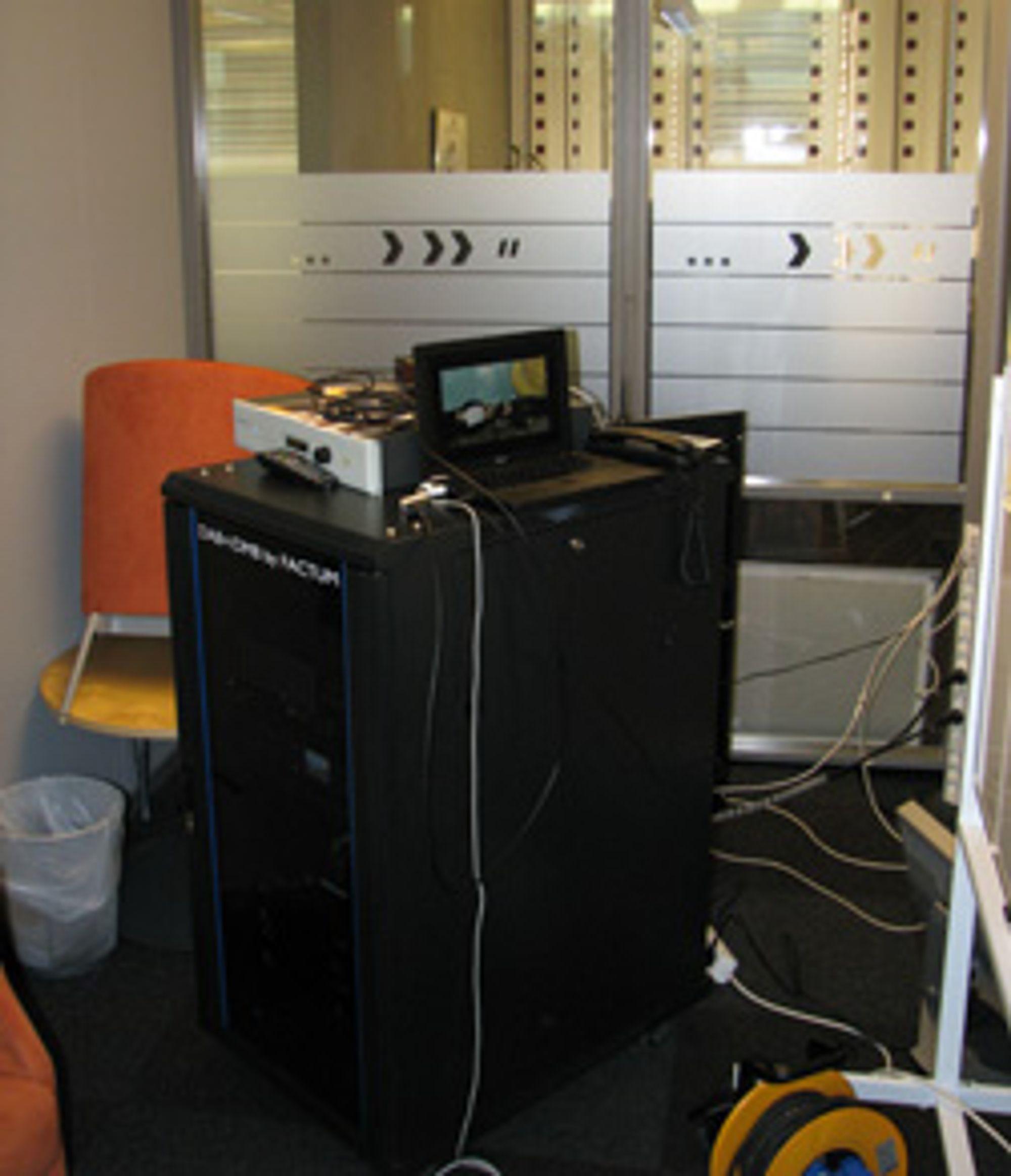 NRKs testlab. (Alle foto: Silje Gomnæs)