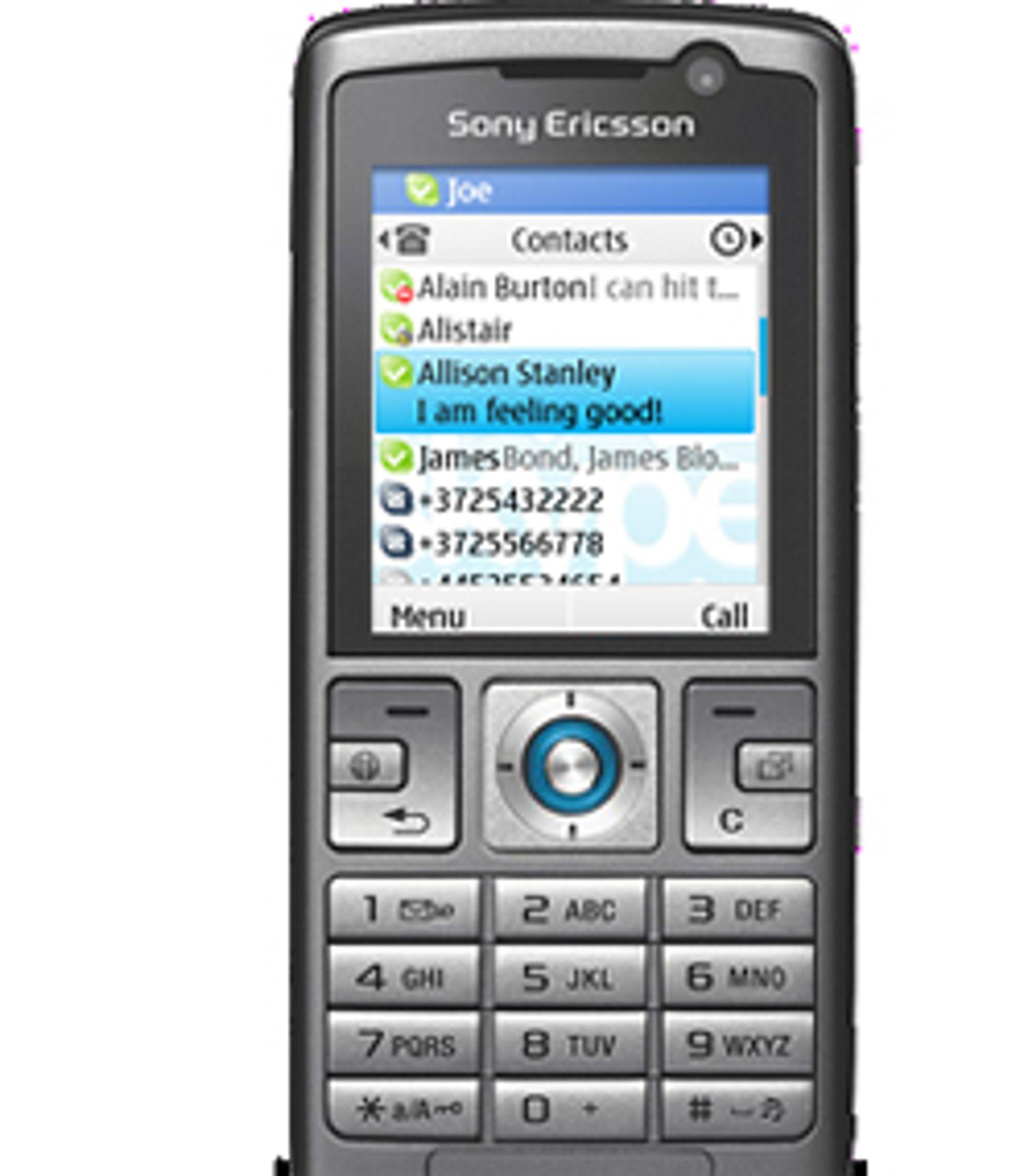 Skype Lite fungerer blant annet på Sony Ericsson-telefoner.