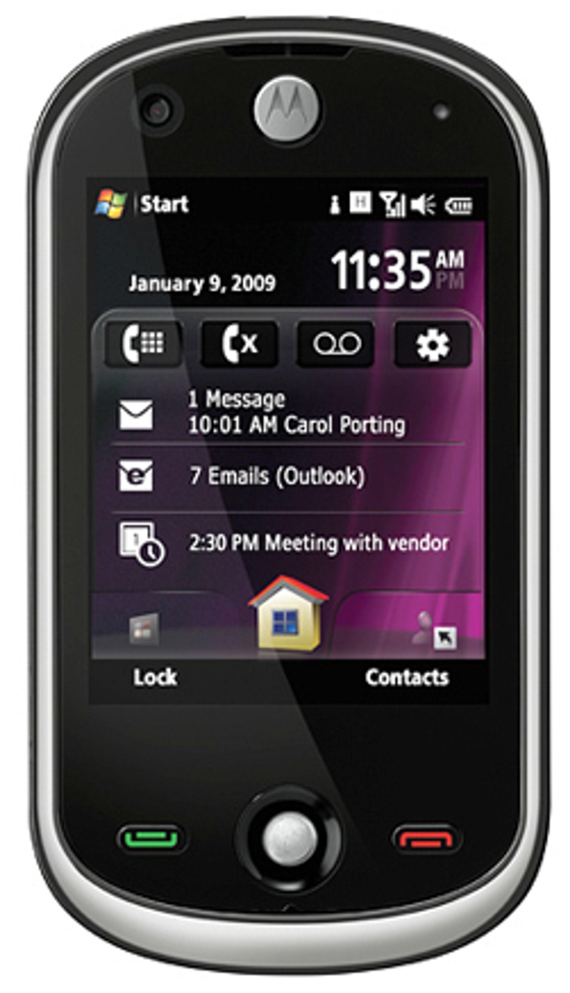 Vi får trolig se flere mobiler som dette fra Motorola.