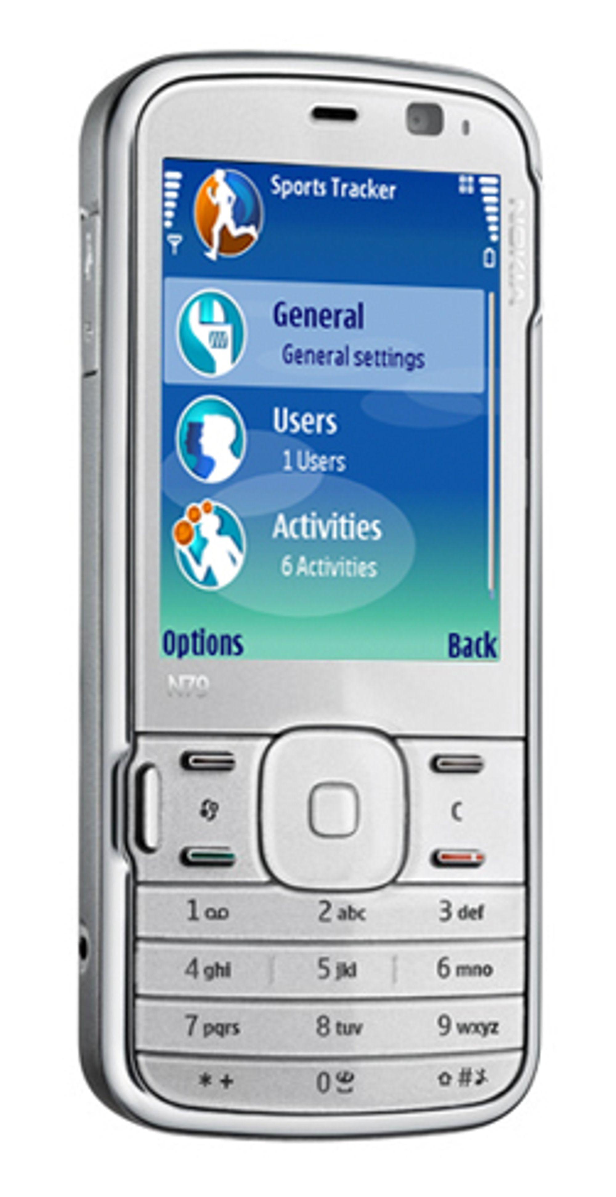 Nokia N79 Active er en vanlig N79 med treningsprogramvare.