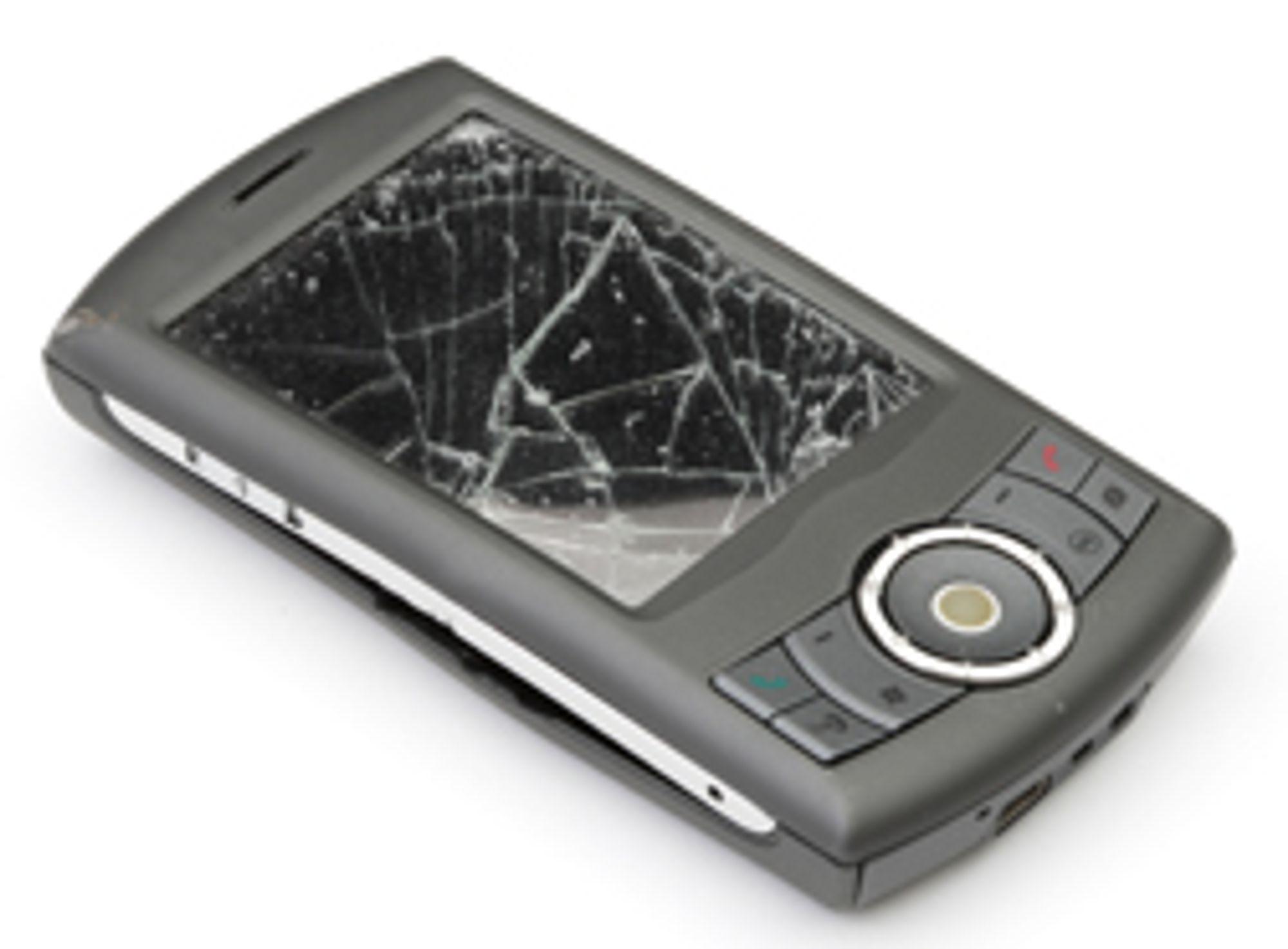 Fall og støt kan ødelegge mobilen din.