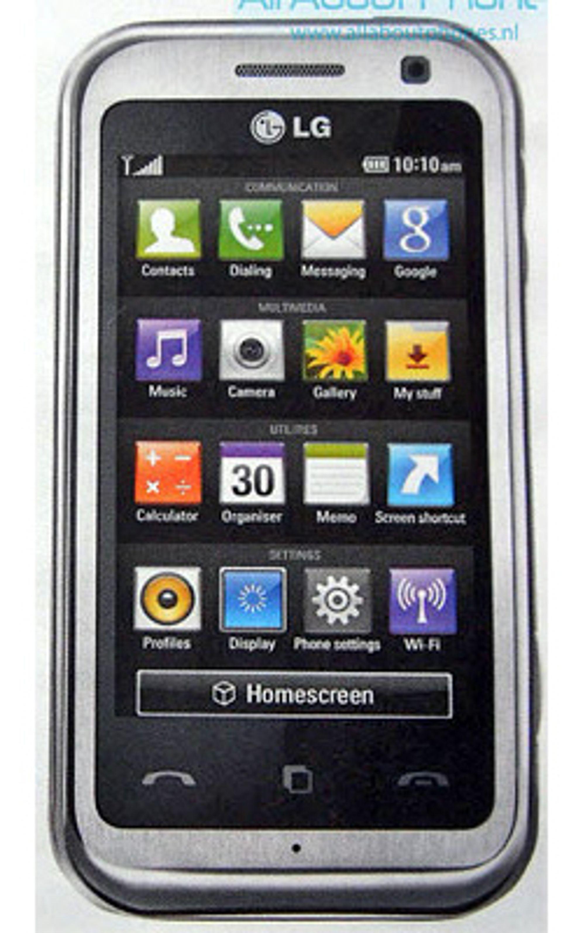 LG KM900 kan bli en av de første mobilene med de kubebaserte menyene.