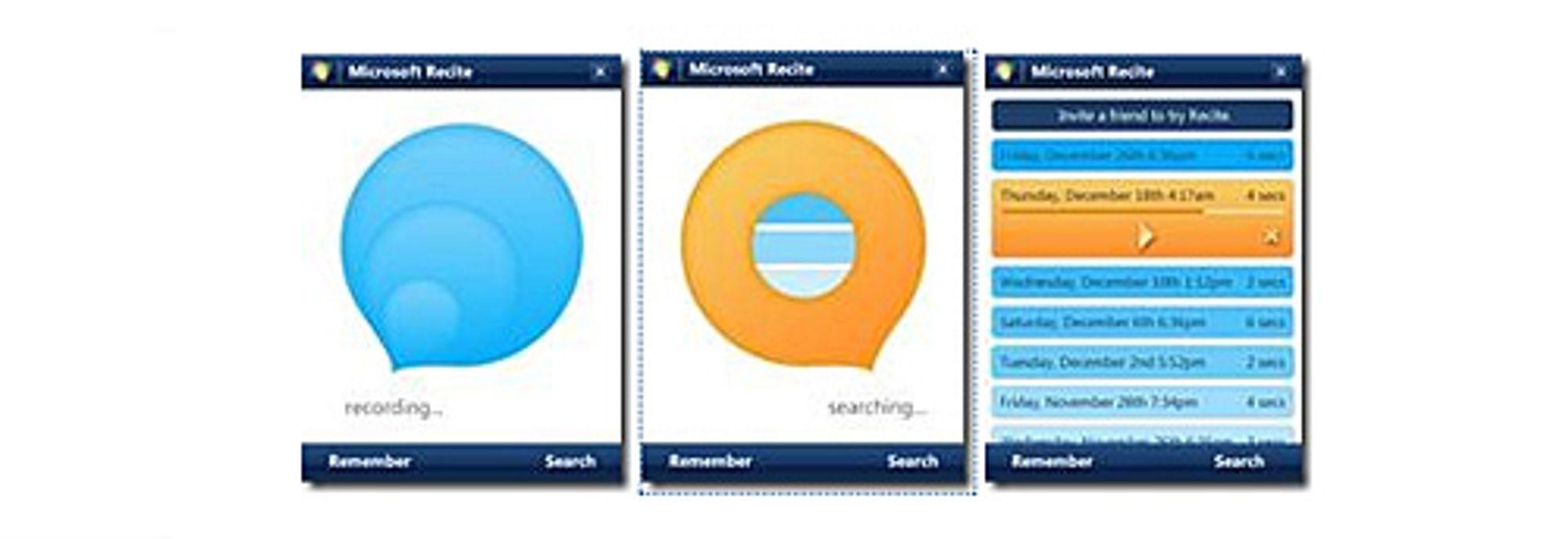 Skjermbilder fra Recite. (Foto: Microsoft)
