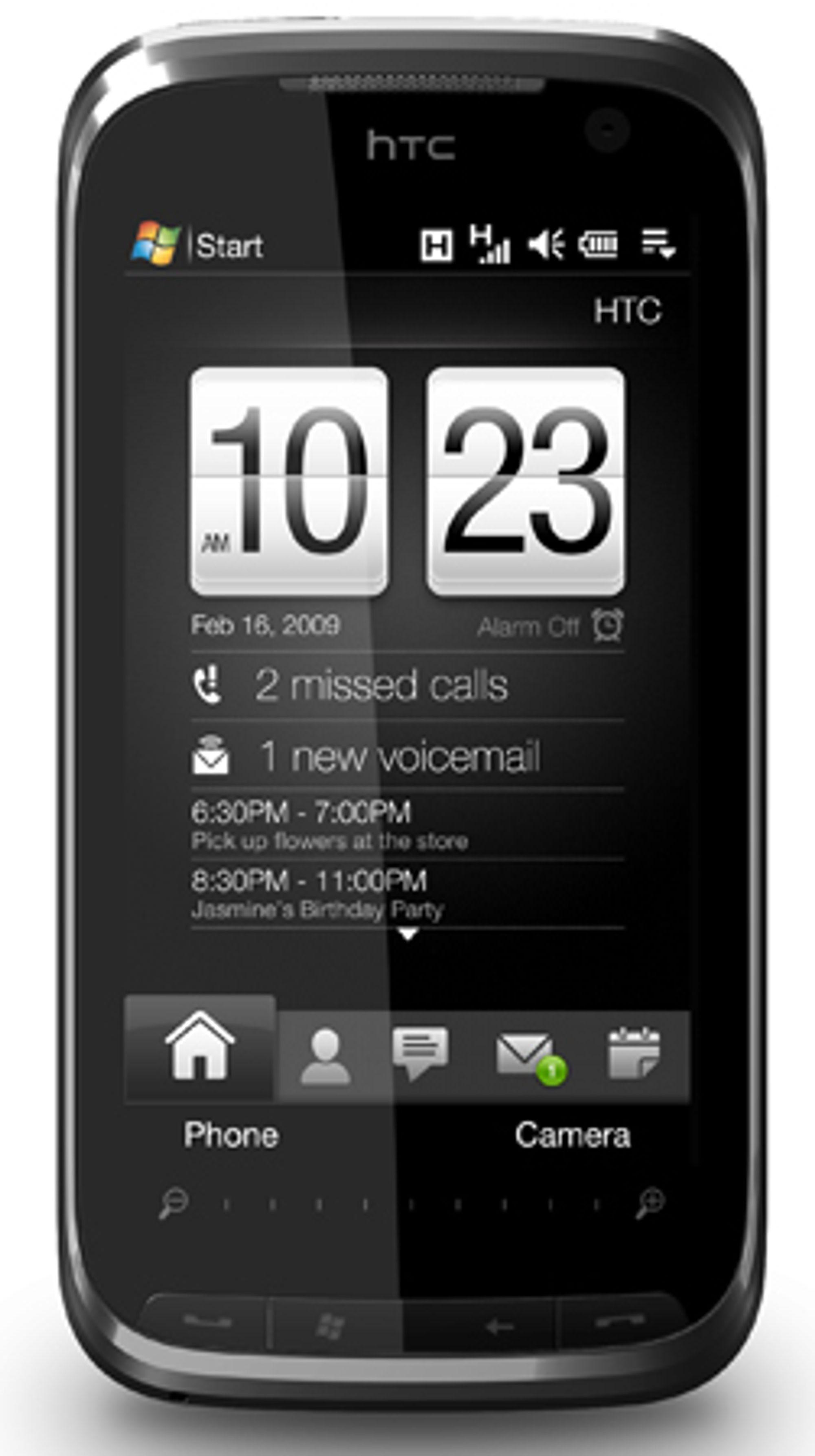 Touch Pro 2 er utstyrt med den nye kalenderfunksjonen, sammen med Touch Diamond 2.