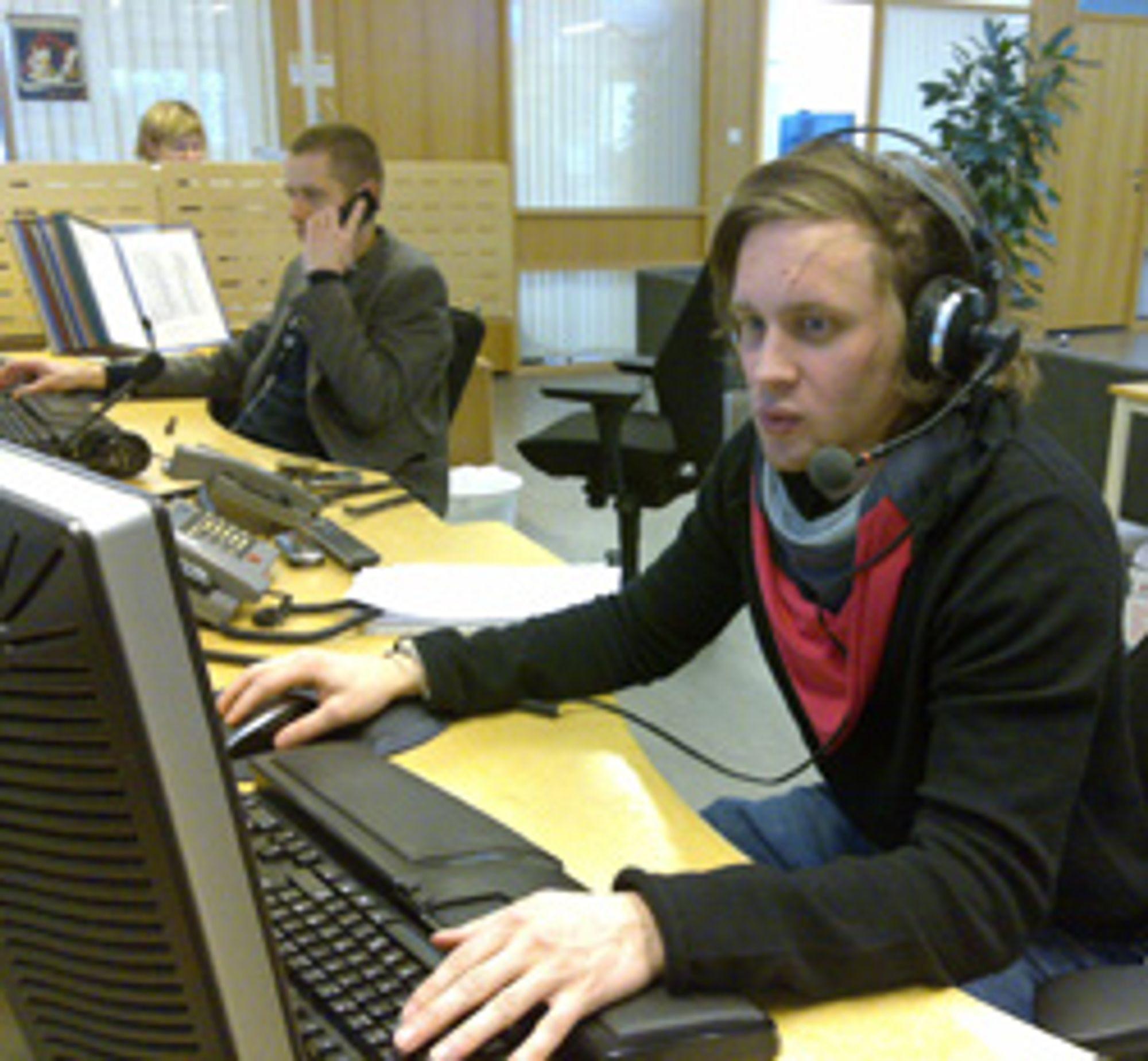 William F. Sande i NRK Trafikk. (Foto: Bjarte Johannesen / NRK)