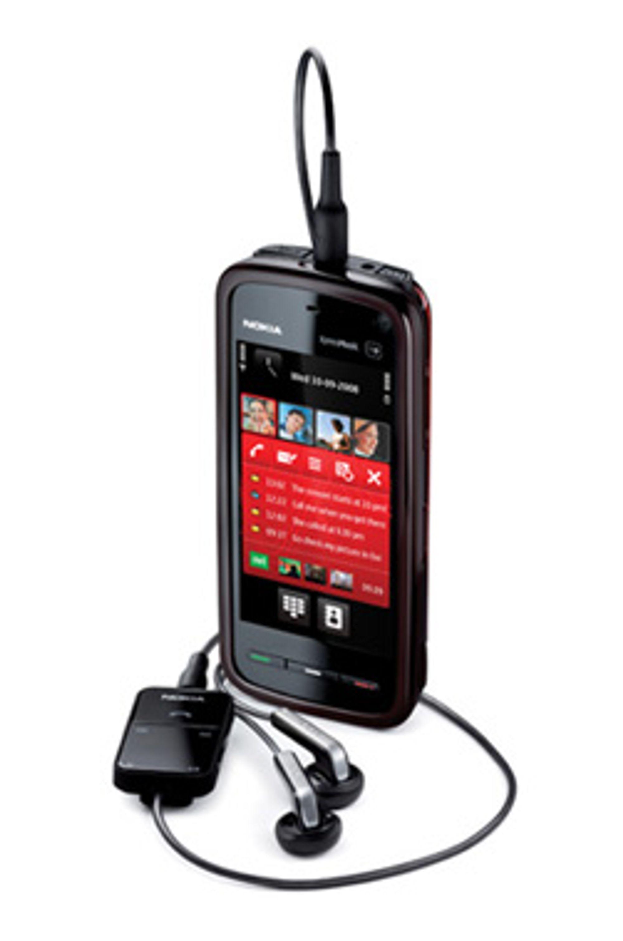 Nokia 5800 fungerer dårlig i USA. (Foto: Nokia)