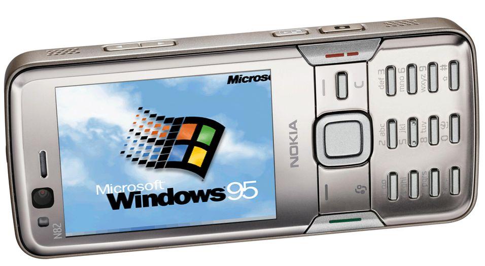 Kjører Windows 95 på Nokia N82