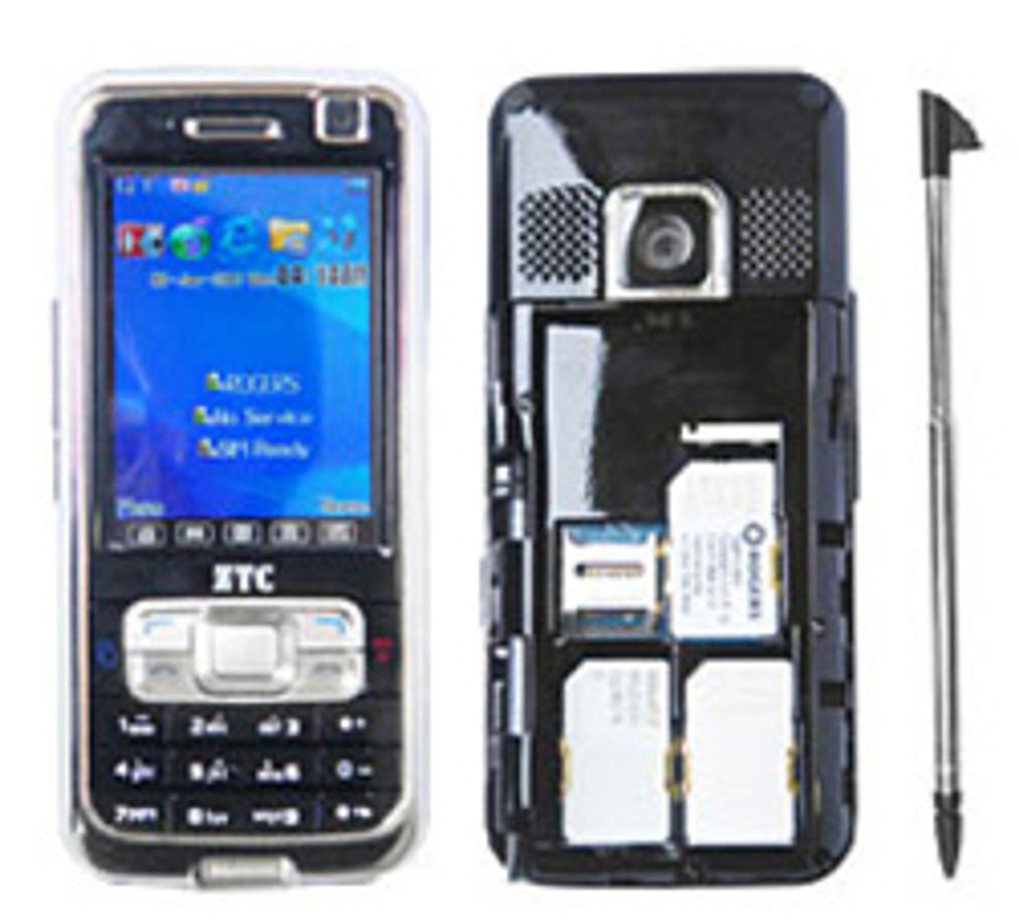 Qiiqs mobil med tre SIM-kort. (Foto: Qiiq)