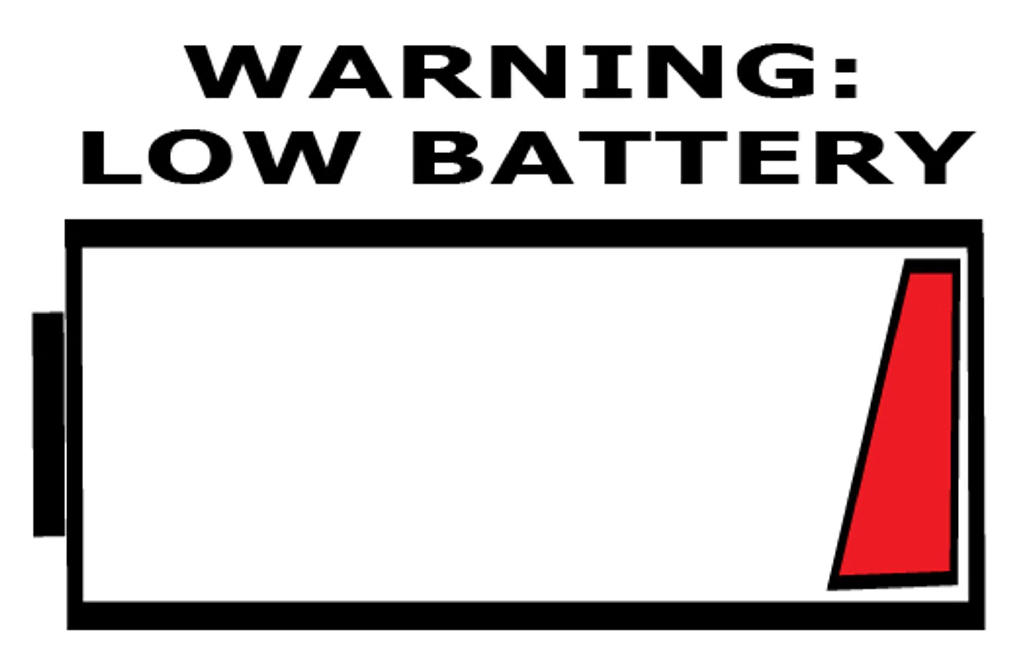 Jeg kan love at også fotografer får lavt batterinivå.