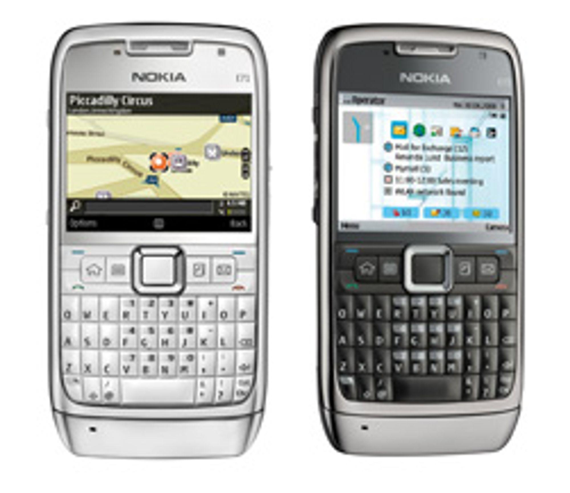 Nokia E71 har allerede Nokia Maps, men for full terrengnavigasjon må du skaffe Viewranger eller Tracker.