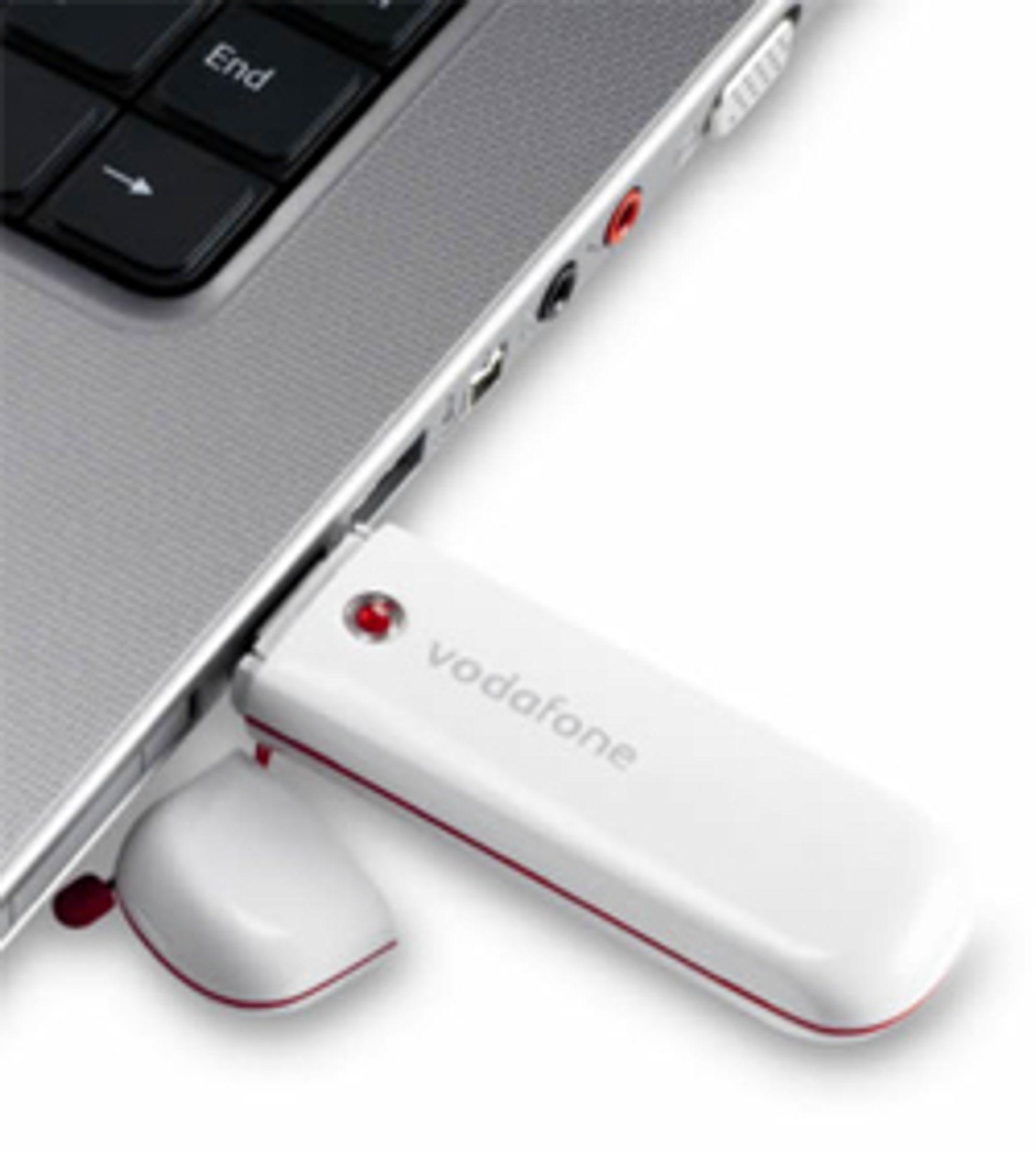 Operatørene tilbyr mobilbredbånd som du kobler til PC-en via USB.