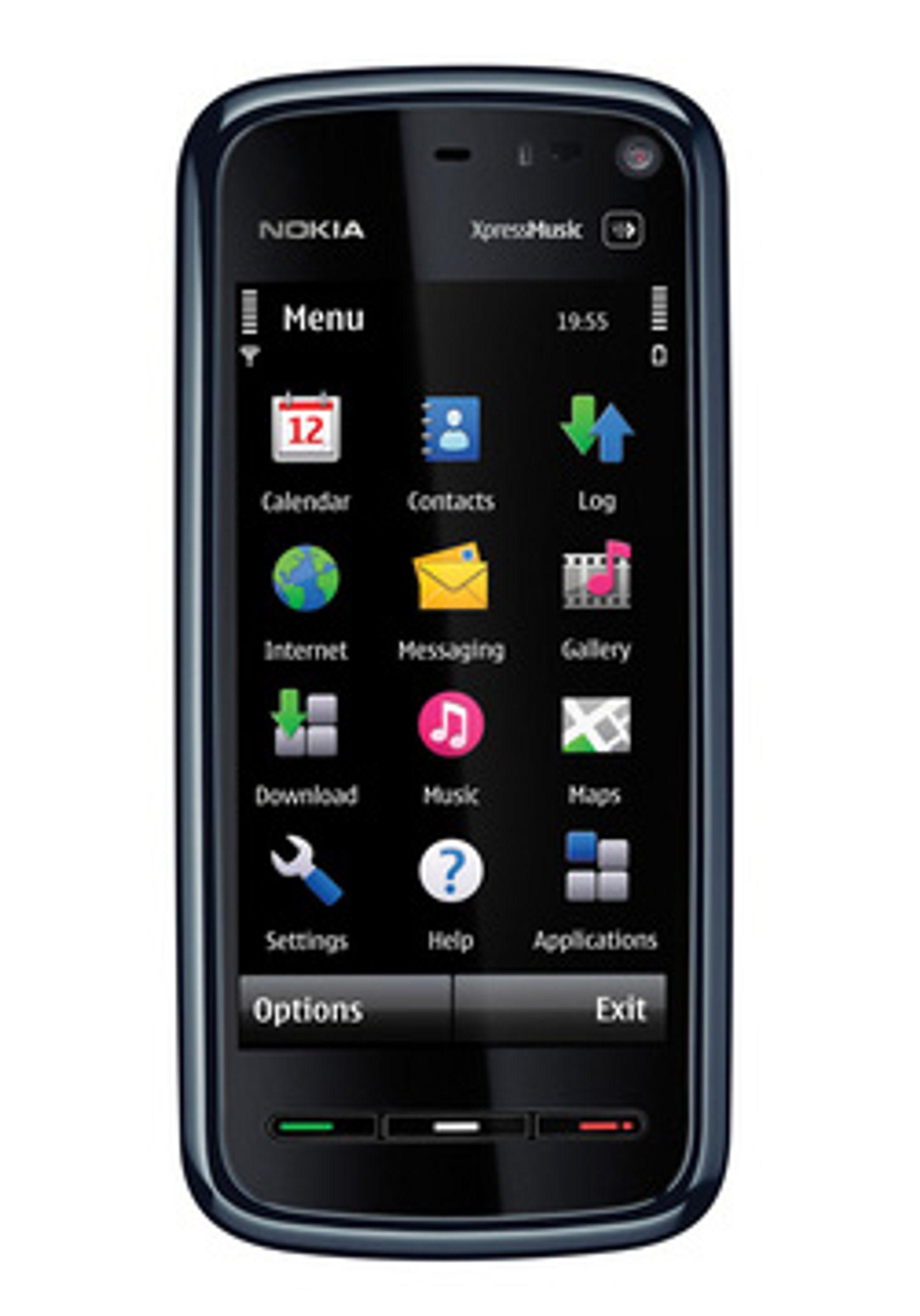 Nokia 5800 ser ut til å få en lillebror. (Foto: Nokia)