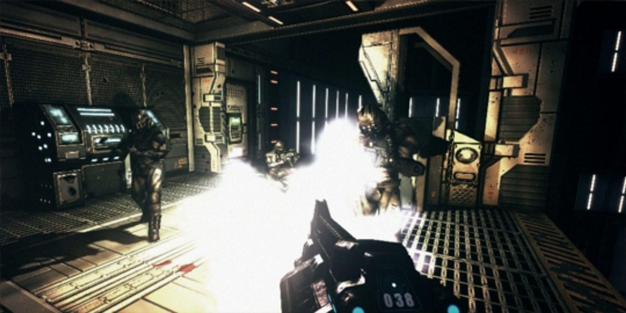 Som førstepersonskyter er Riddick såvidt over middelmådig.