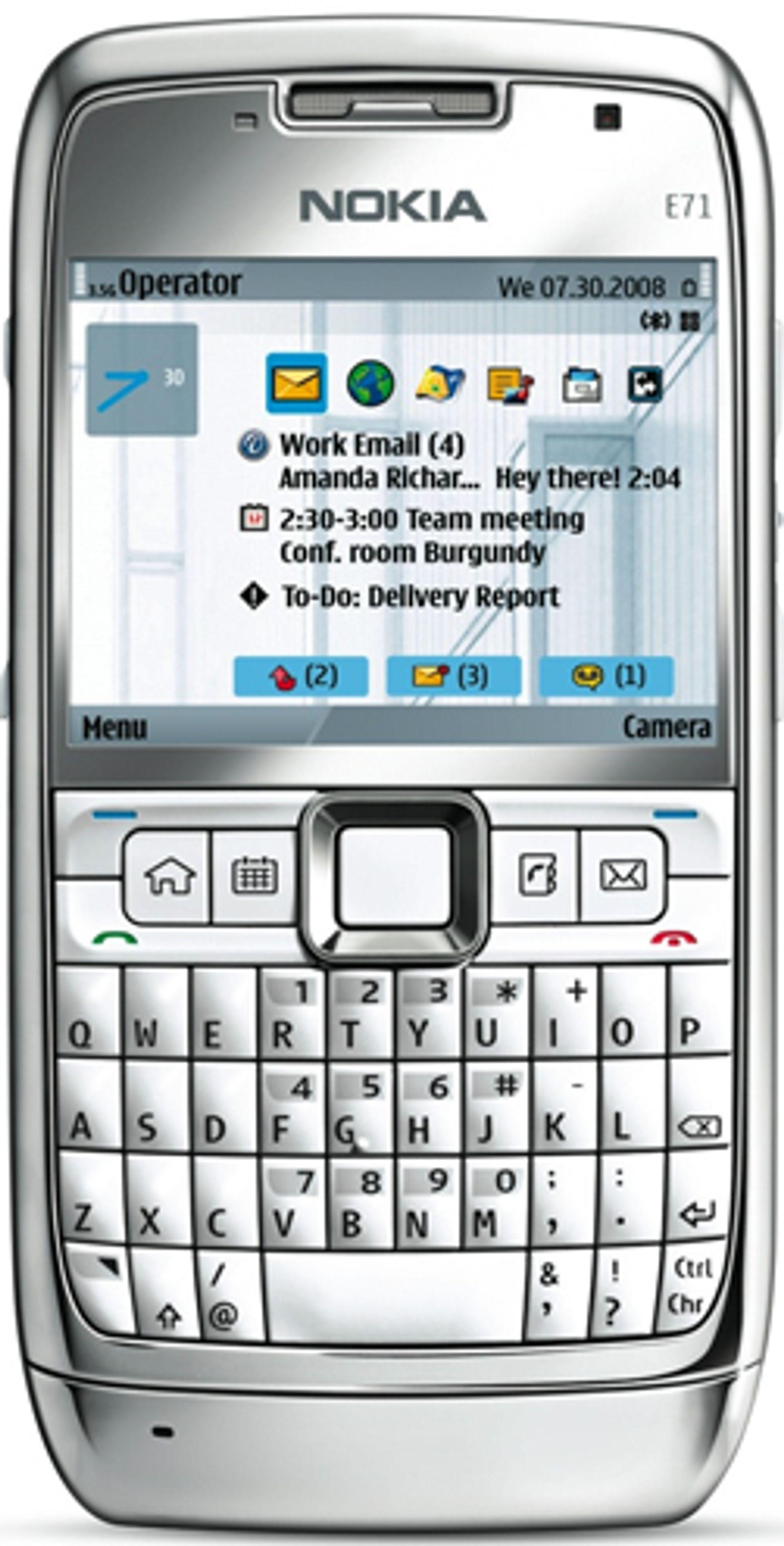 Nokia Music Store fungerer blant annet på Nokia E71.