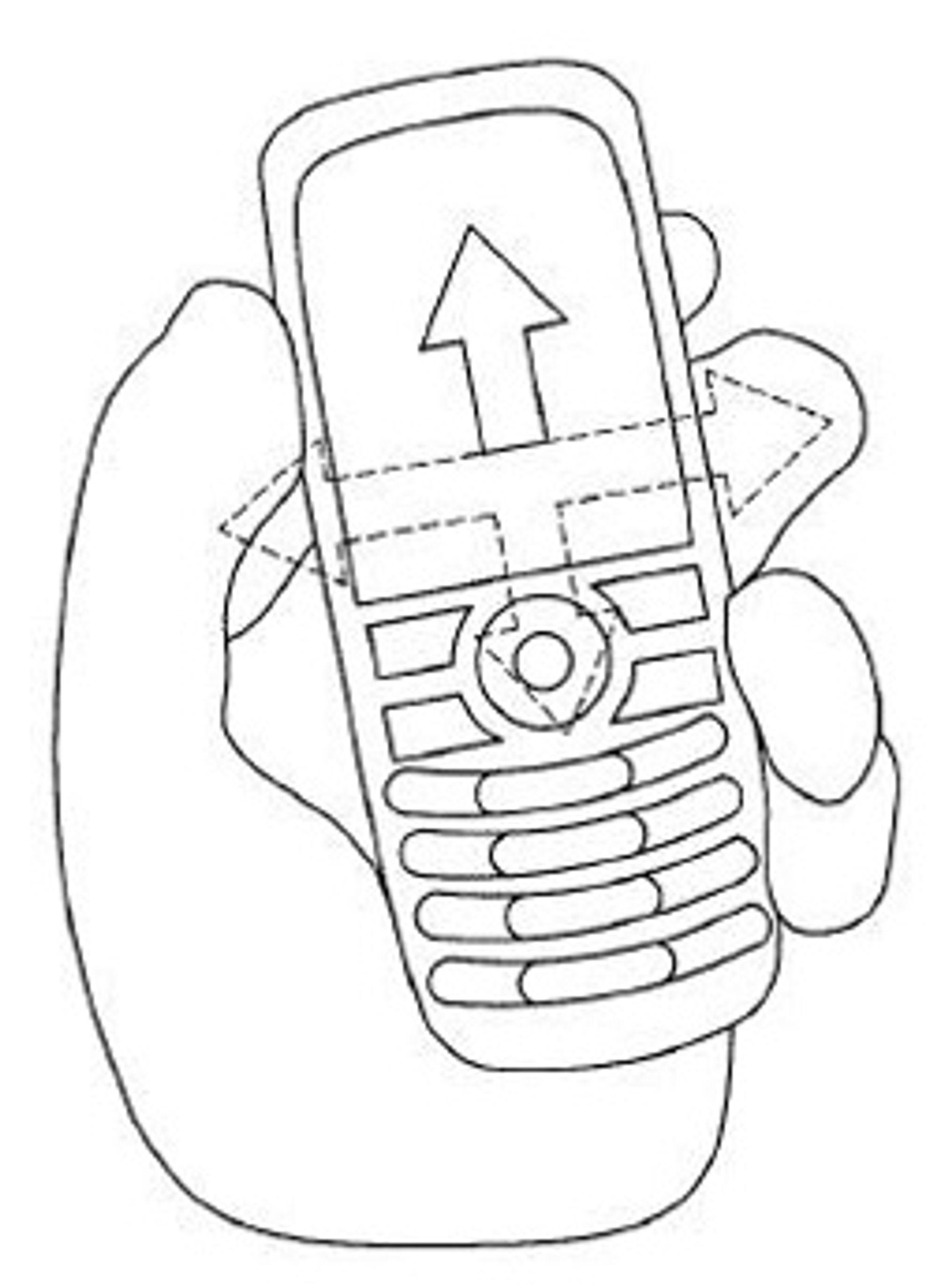 Illustrasjonstegning av HTCs nye bevegelsesmetode. (Foto: HTC)