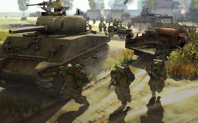 Скриншоты из игры с патчем Company of Heroes 1.5. Скачать патч к игре.