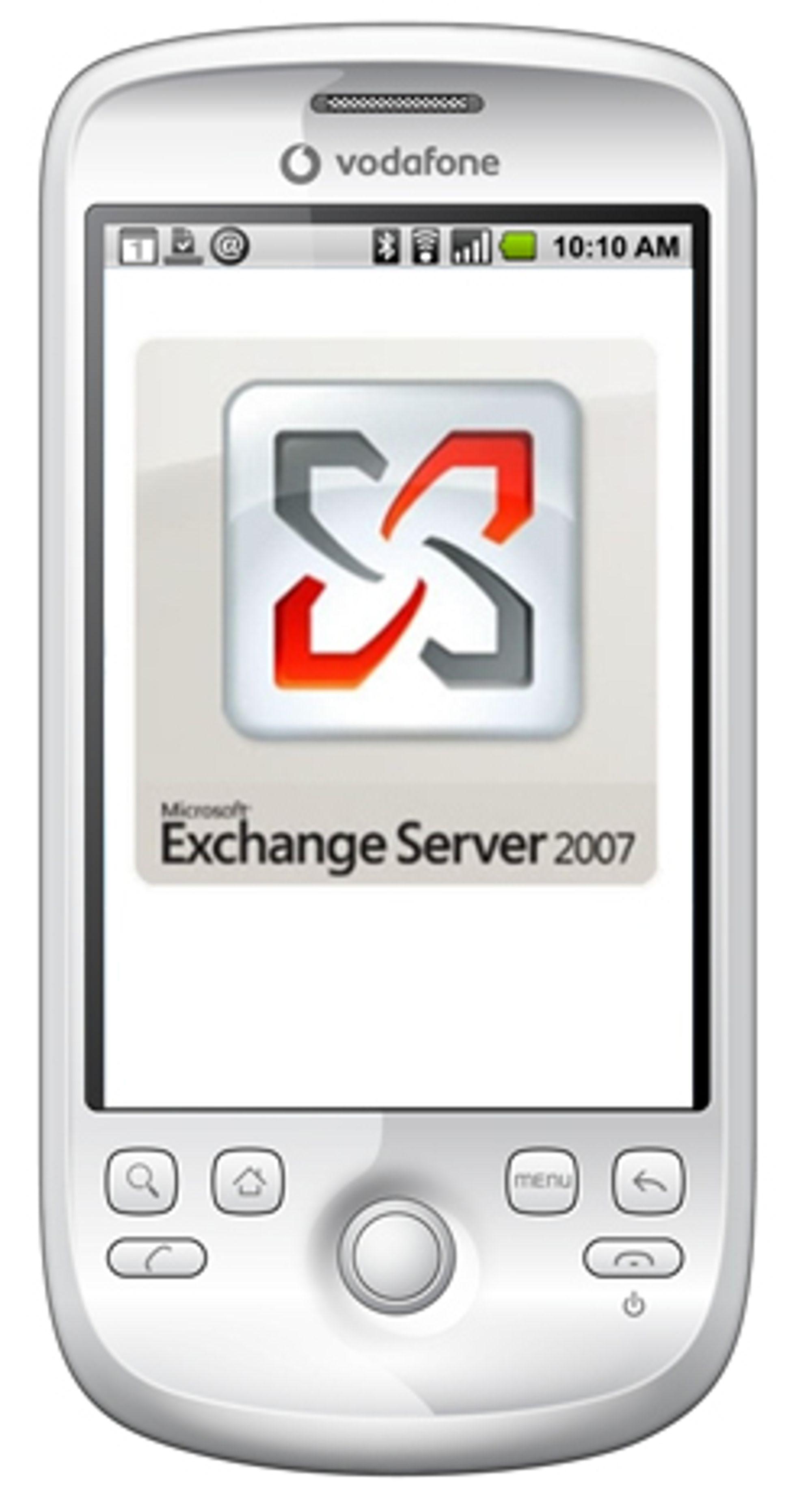 HTC Magic har Exchange-støtte integrert.