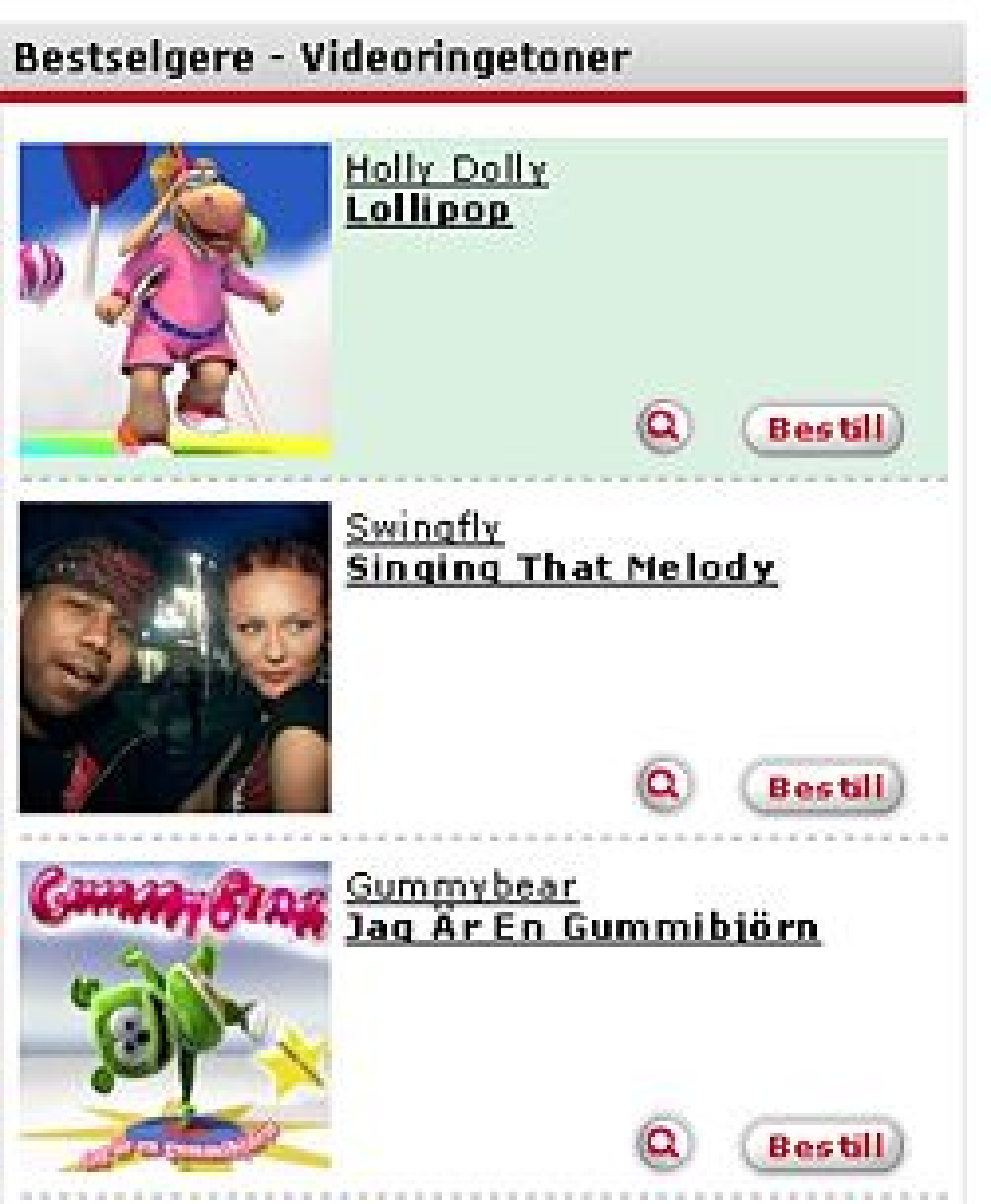 Telstra satser hardt på ringetoner, noe norske mobilbrukere blant annet finner hos Jamba. (Skjermskudd: Jamba.no)