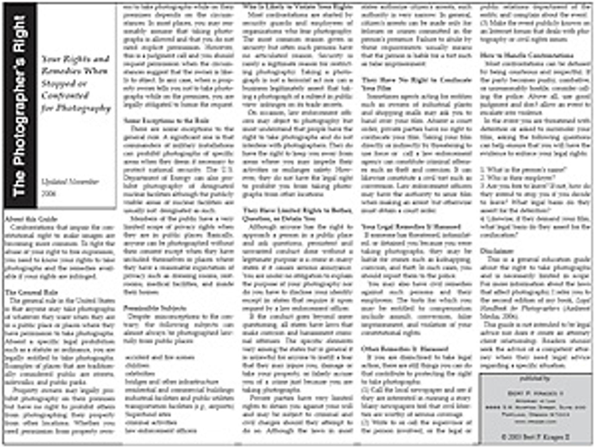 Faksimile av jurist Burt P. Krages II amerikanske rettighetsskrift