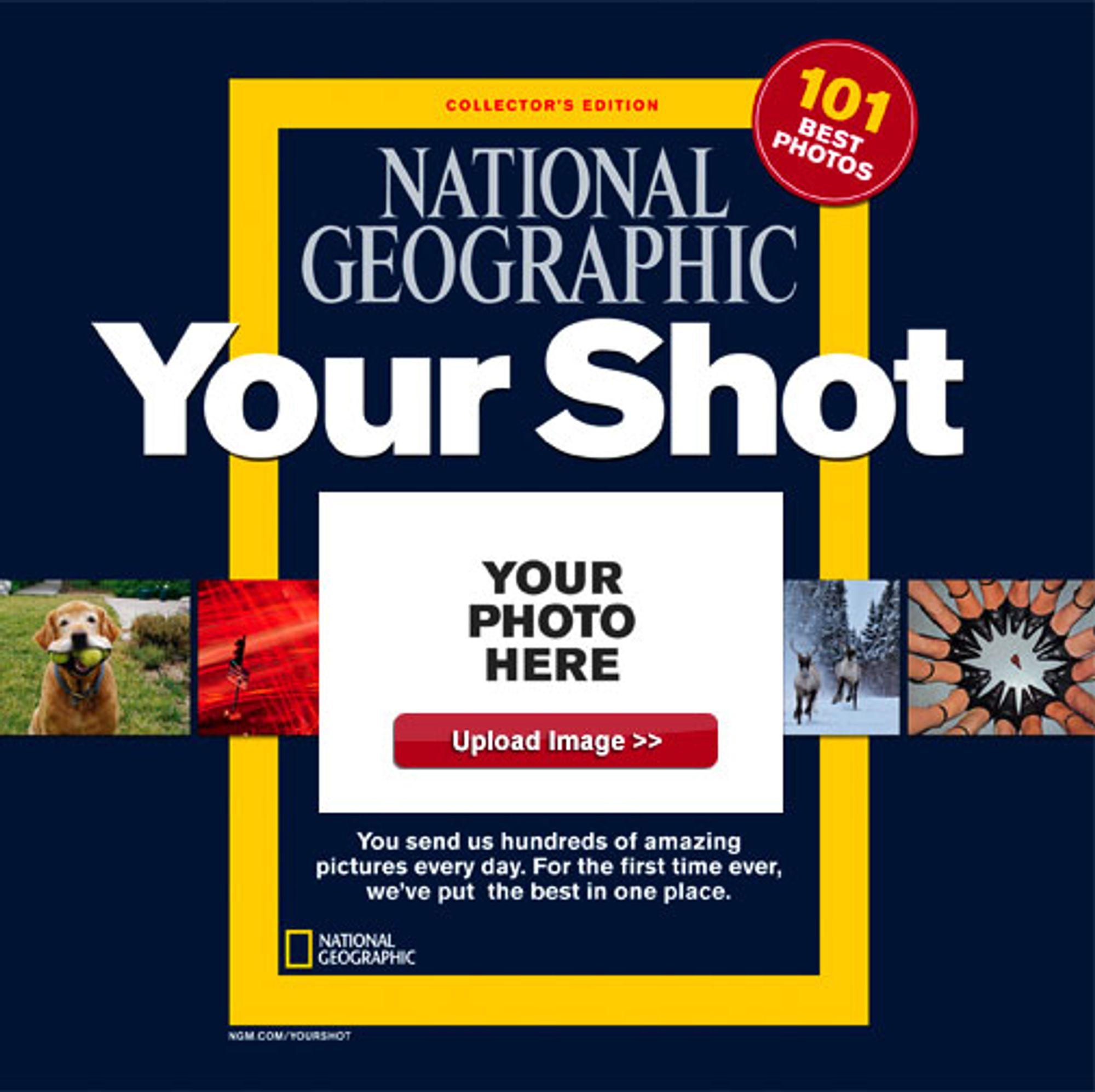 Ditt bilde på forsiden av National Geographic.
