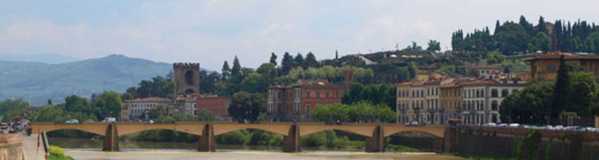 Utsikten fra Ponte Vecchio