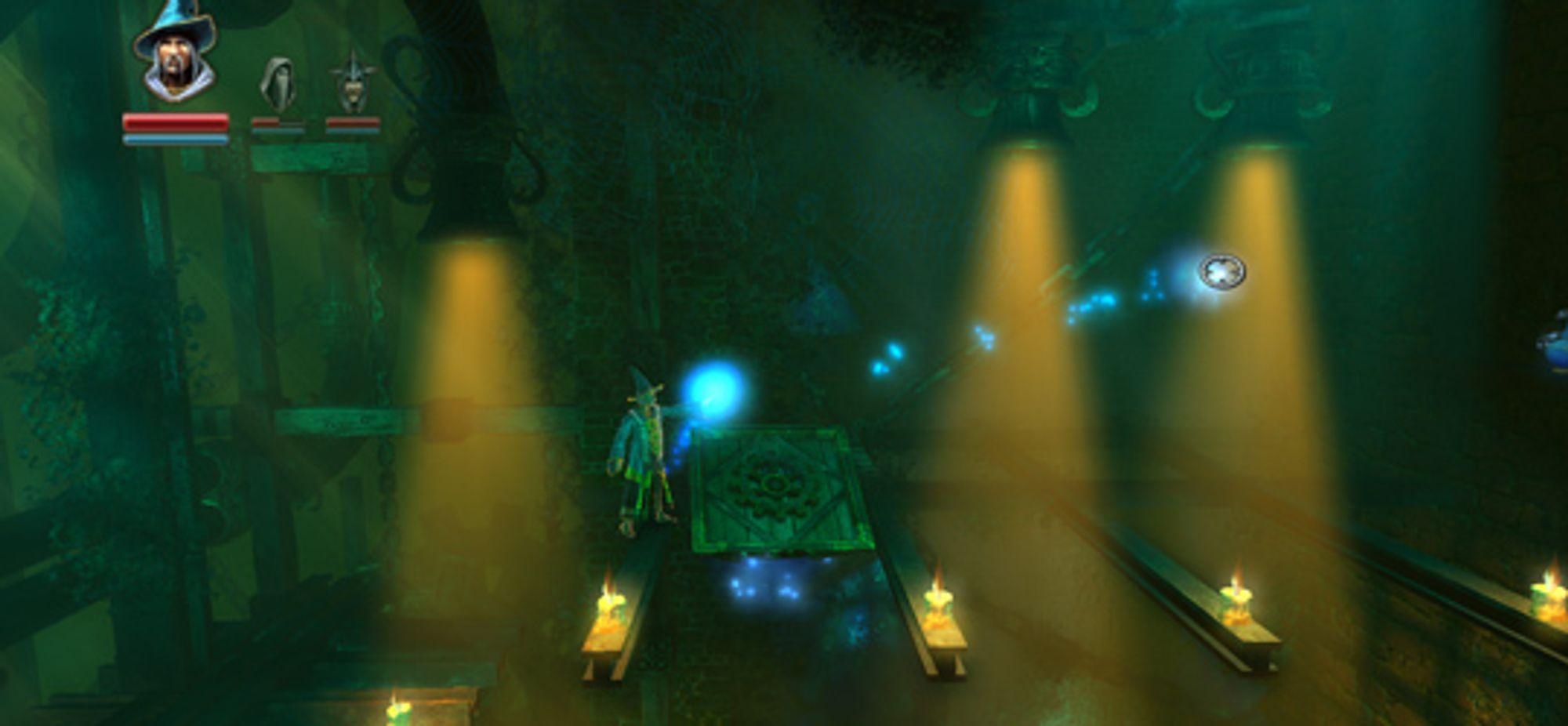 Treplattformen er en av tre forskjellige objekter Trollmannen kan mane fram.